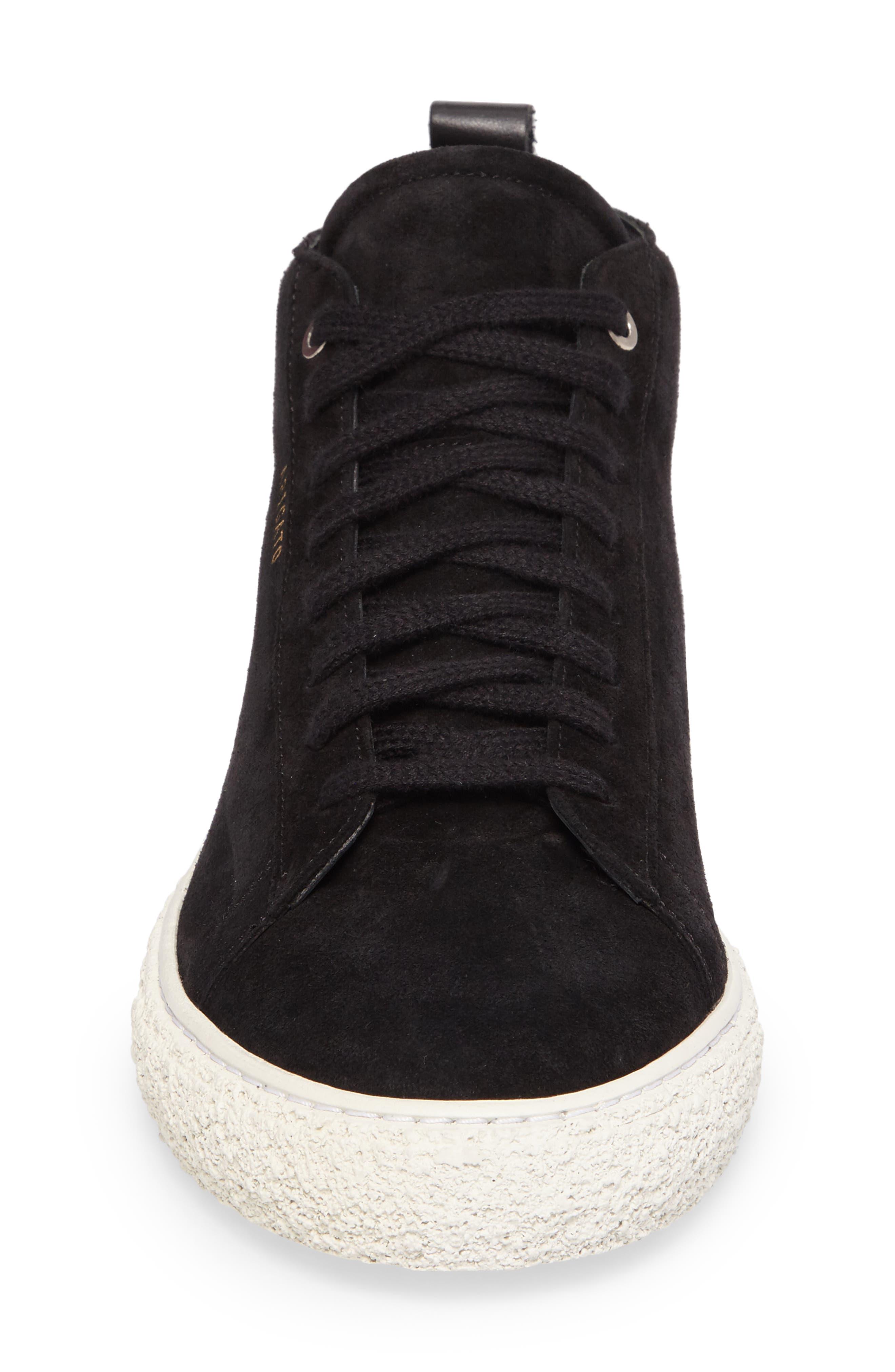Chukka Sneaker,                             Alternate thumbnail 4, color,                             Black Suede