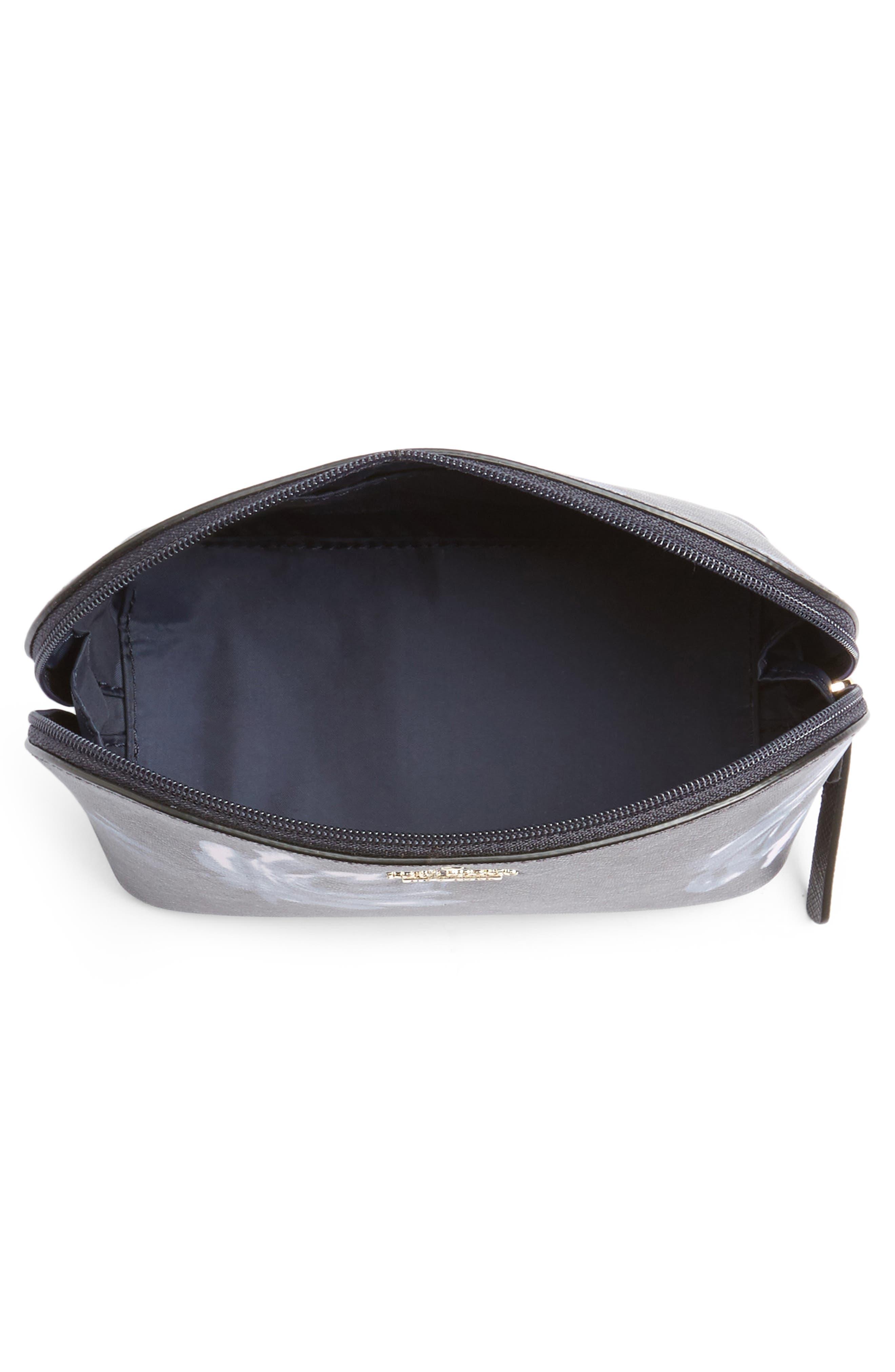 cameron street night rose - small abalene cosmetics bag,                             Alternate thumbnail 3, color,                             Rich Navy Multi