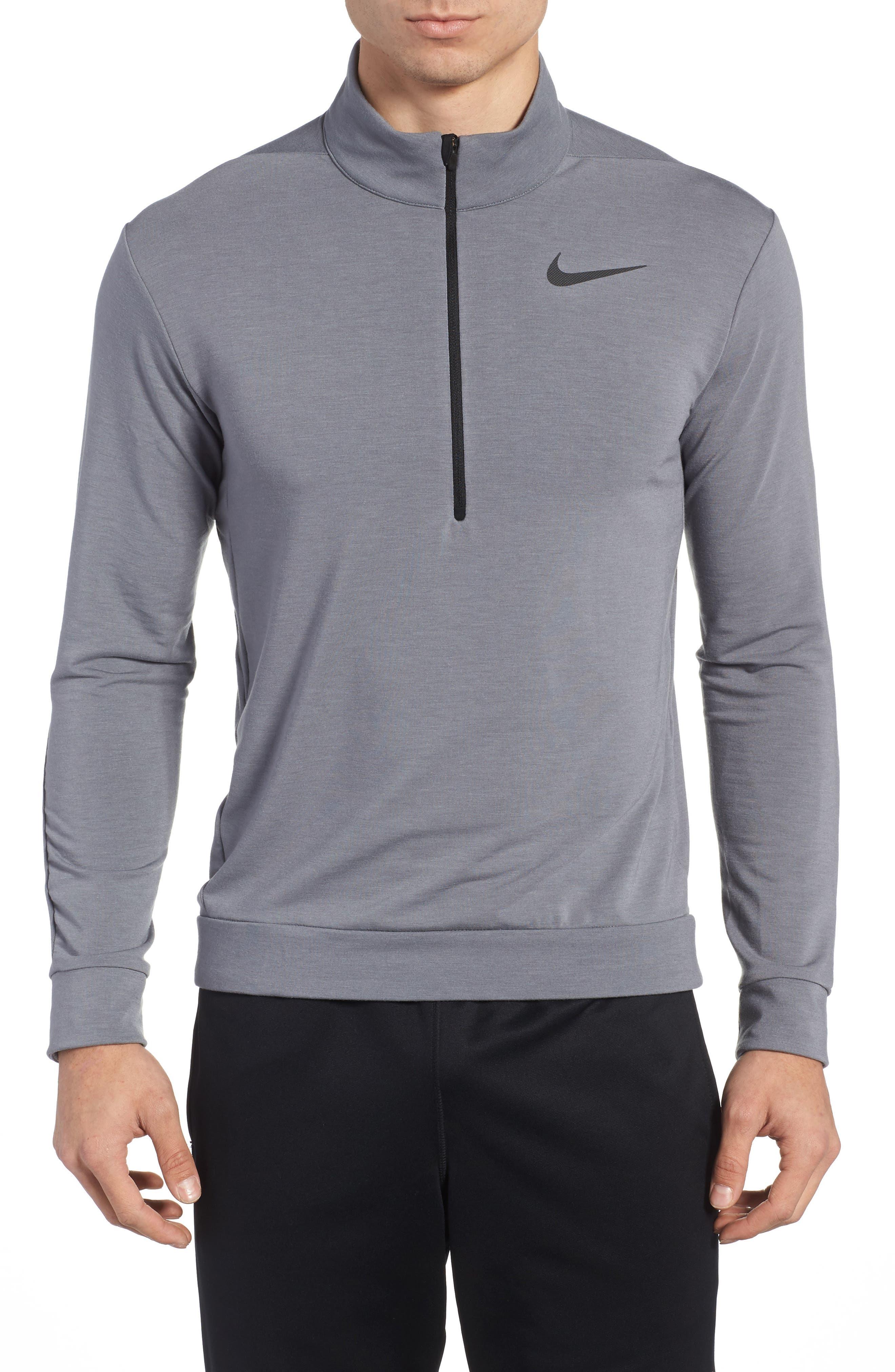 Dry Training Quarter Zip Pullover,                         Main,                         color, Cool Grey/ Pure/ Black/ Black