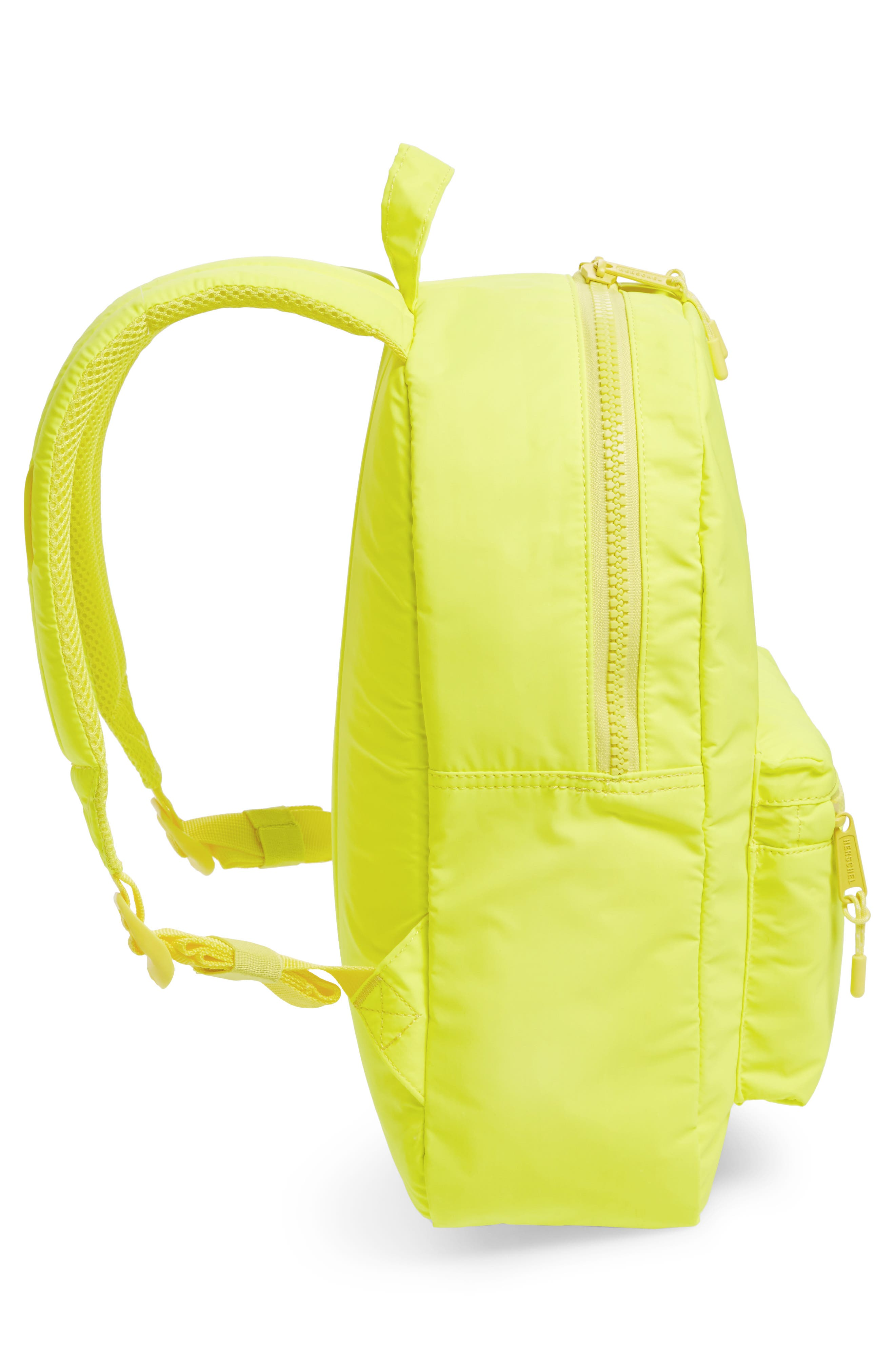 Heritage Backpack,                             Alternate thumbnail 3, color,                             Neon Yellow Reflective Rubber