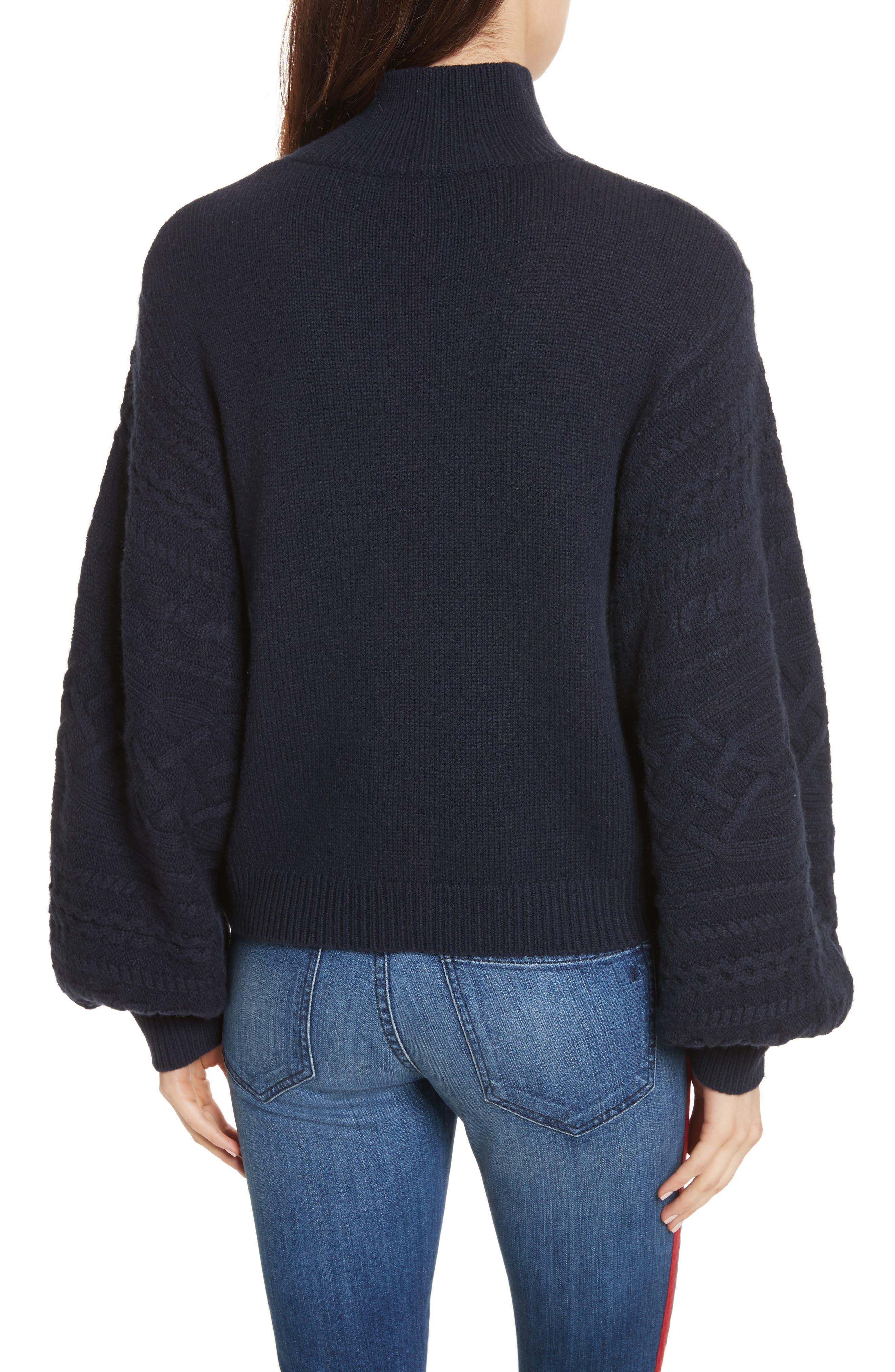 Lathen Mock Neck Sweater,                             Alternate thumbnail 2, color,                             Midnight