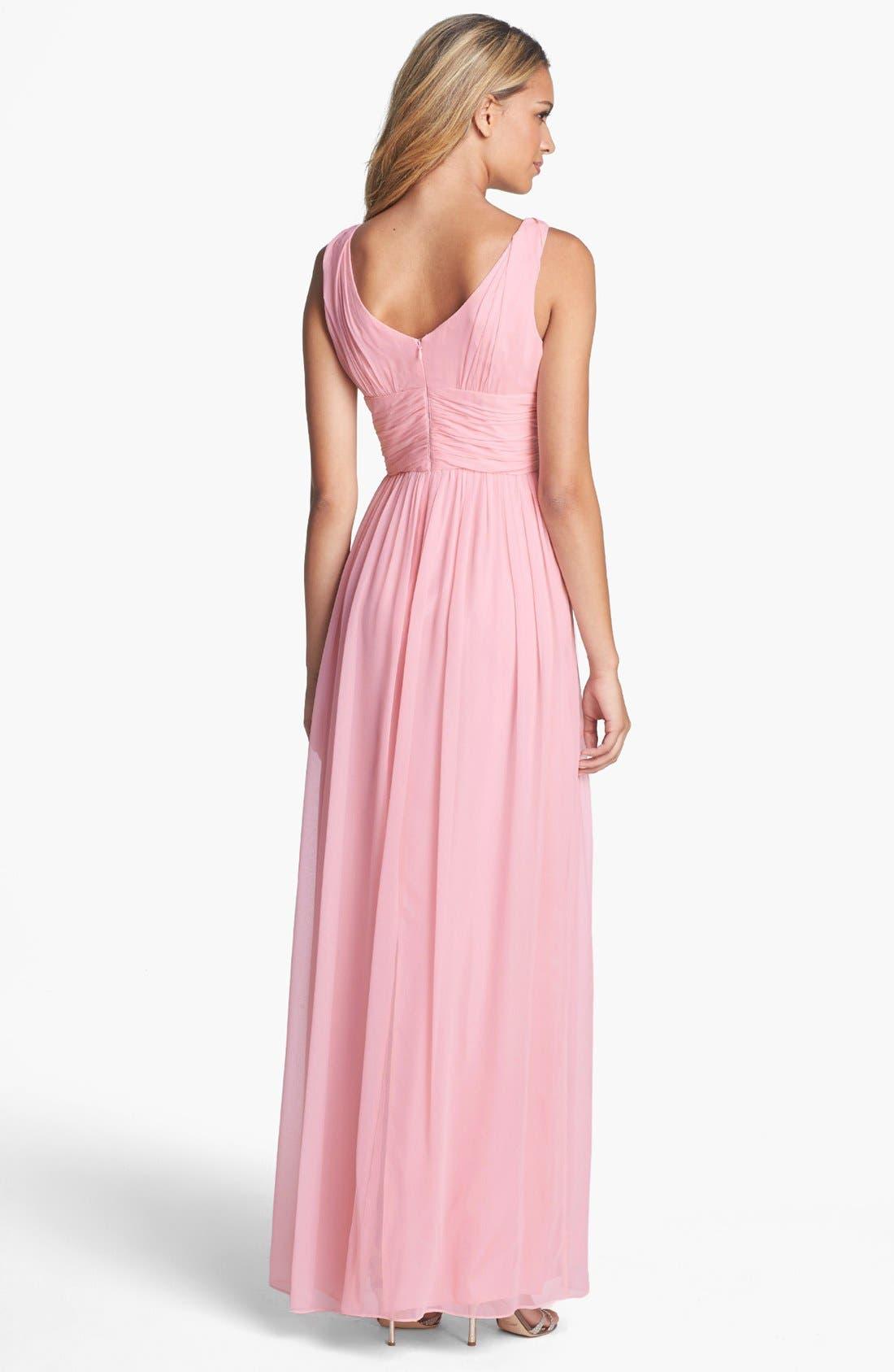 Alternate Image 2  - Donna Morgan 'Julie' Twist-Waist Silk Chiffon Gown