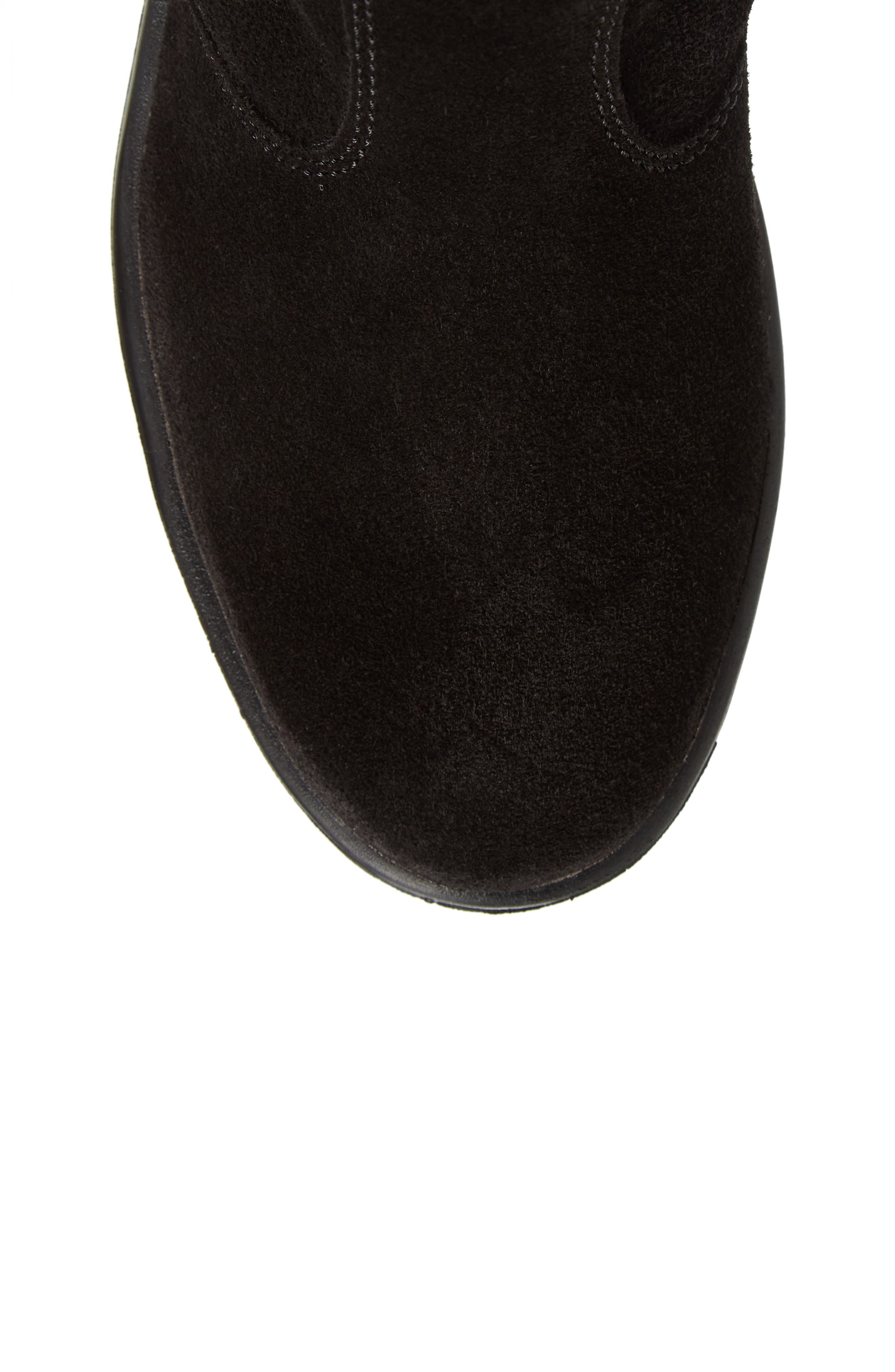Natasha Faux Fur Lined Waterproof Boot,                             Alternate thumbnail 5, color,                             Black Suede