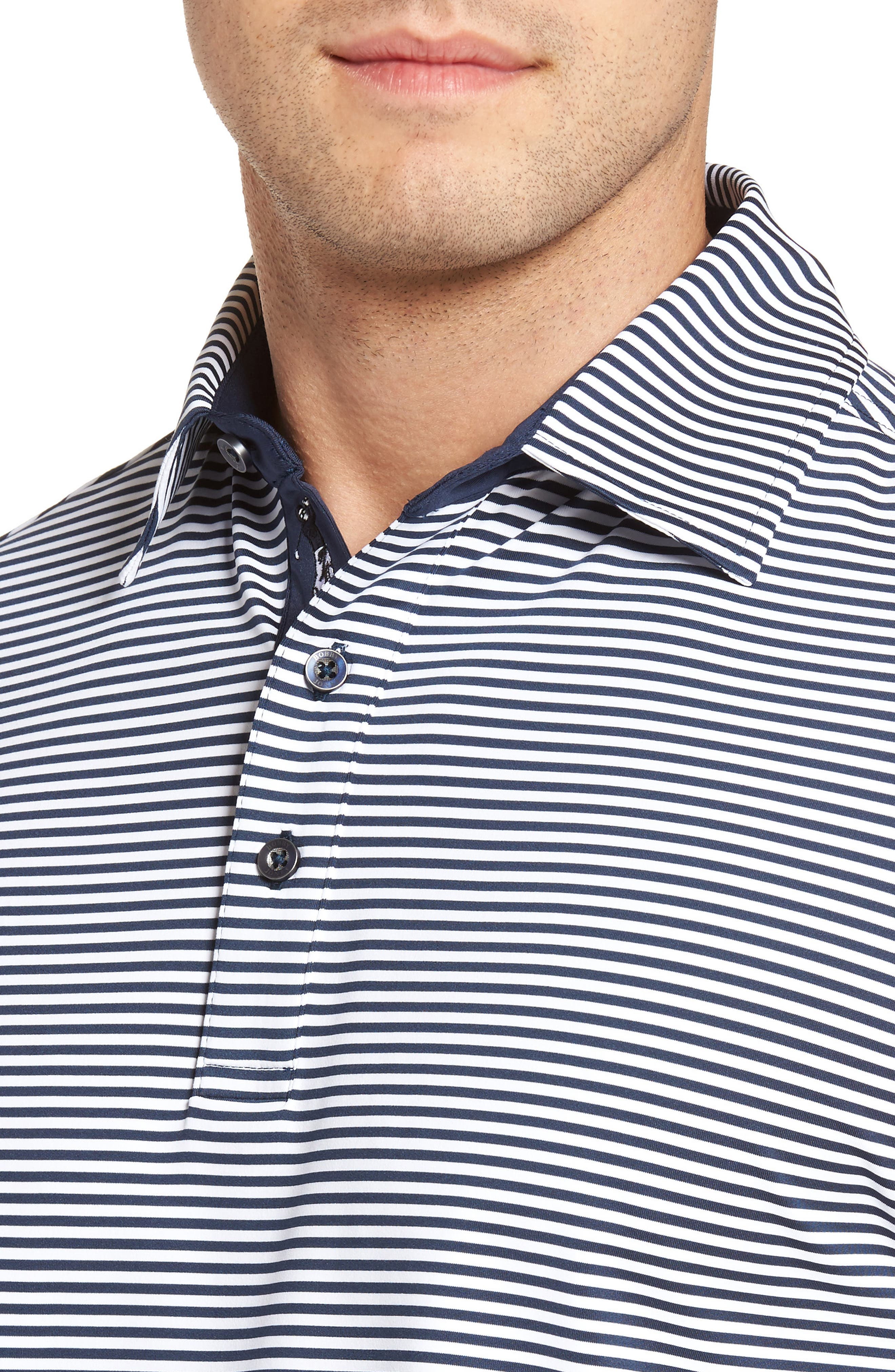 XH20 Ranger Stripe Polo,                             Alternate thumbnail 4, color,                             Midnight Ink