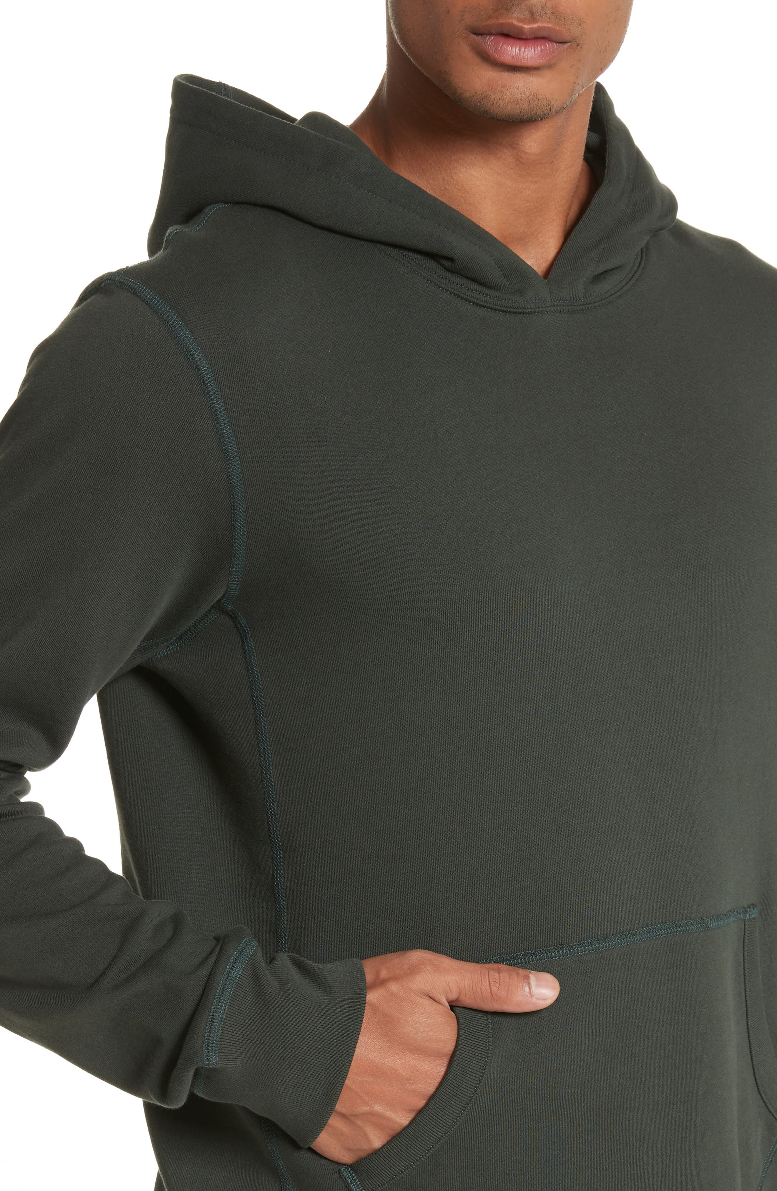 Hoodie,                             Alternate thumbnail 4, color,                             Jungle Green