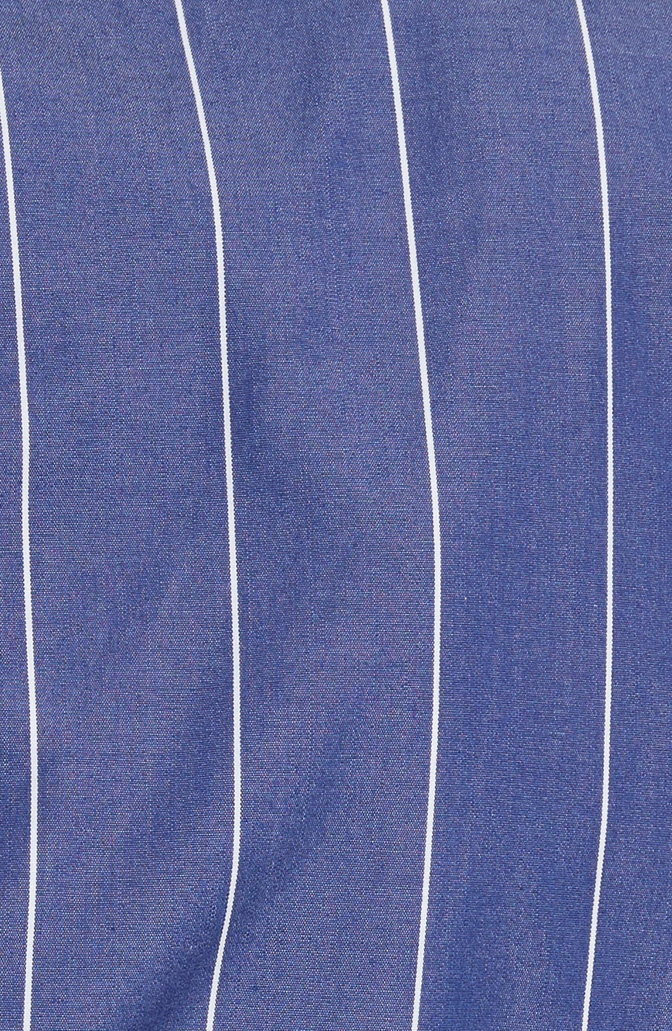 Mixed Stripe Poplin Top,                             Alternate thumbnail 5, color,                             Blue/ White