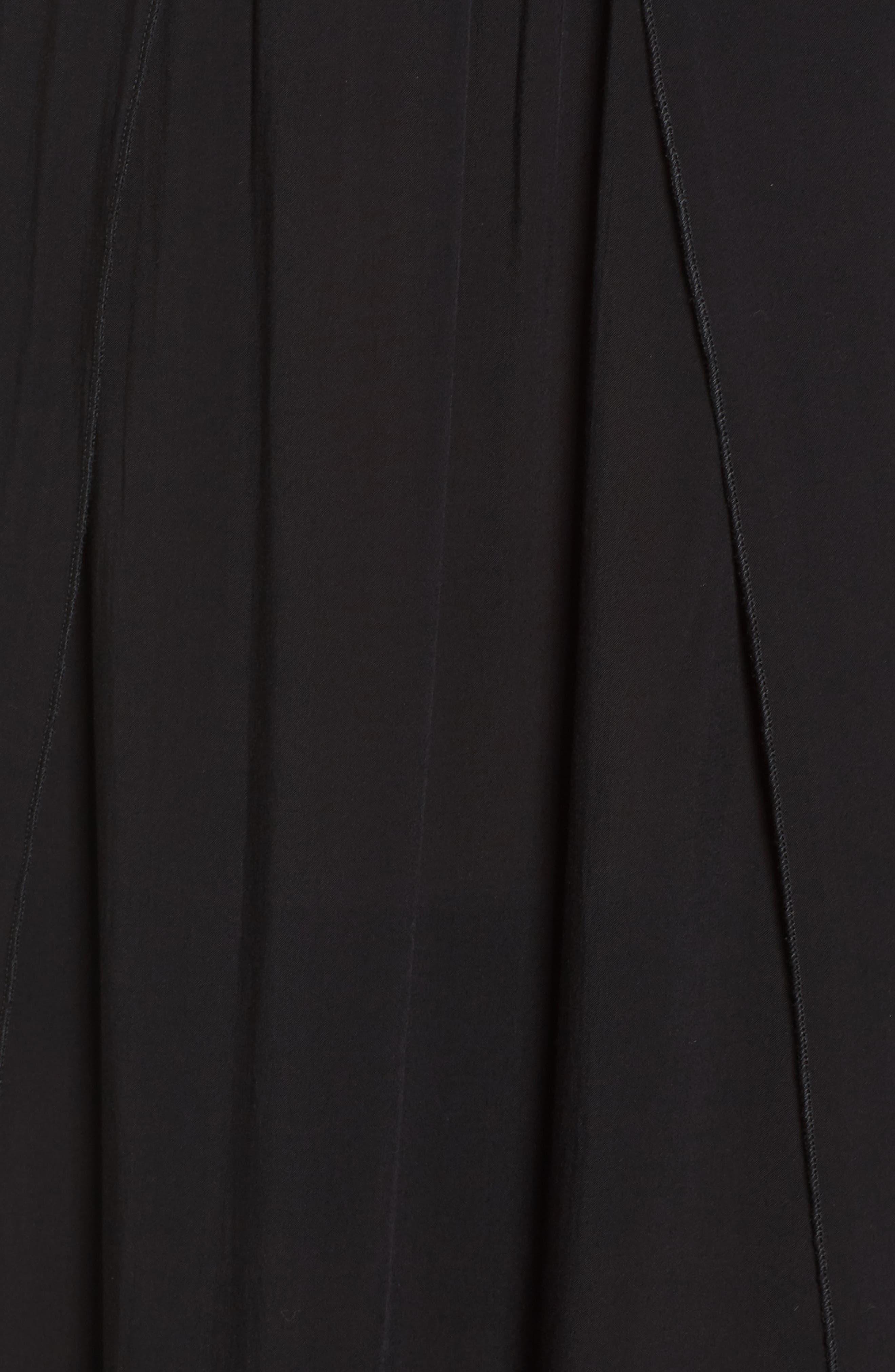 Strapless Maxi Cover-Up Dress,                             Alternate thumbnail 5, color,                             Black