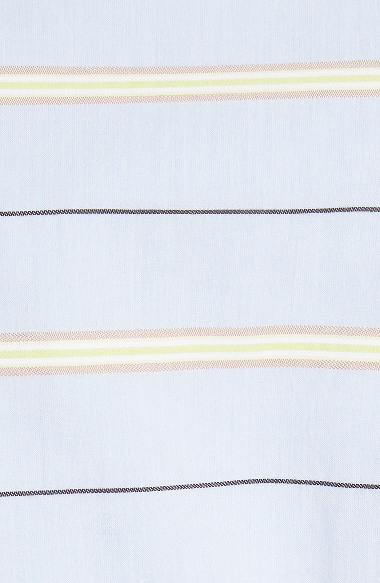 Removable Corset Stripe Shirt,                             Alternate thumbnail 5, color,                             Blue Stripe Multi