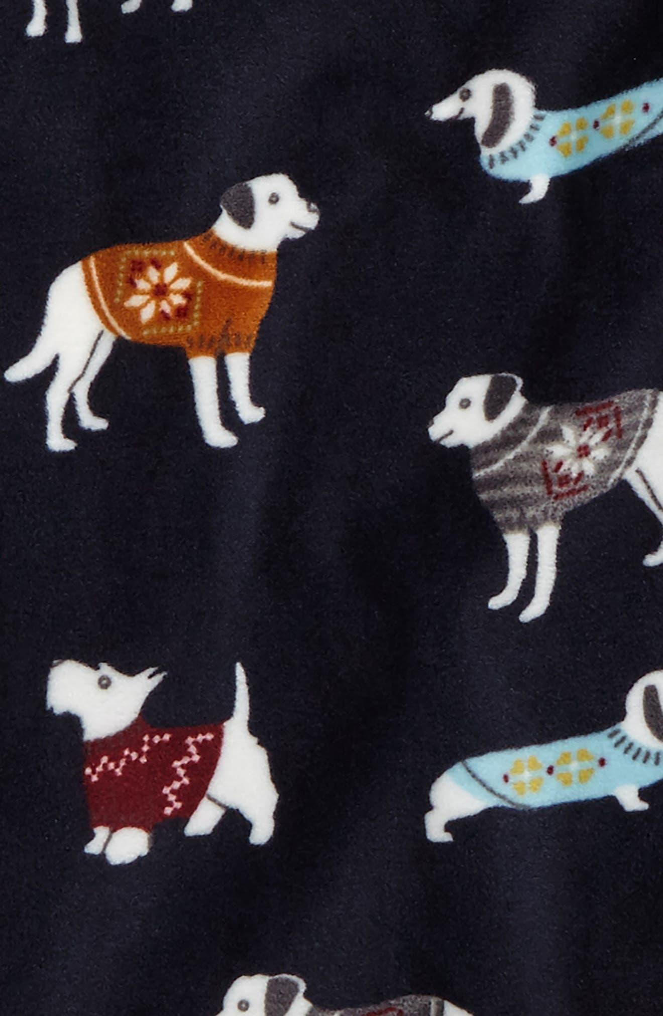Alternate Image 2  - PJ Salvage Fitted Print Fleece Two-Piece Pajamas (Toddler Girls, Little Girls & Big Girls)