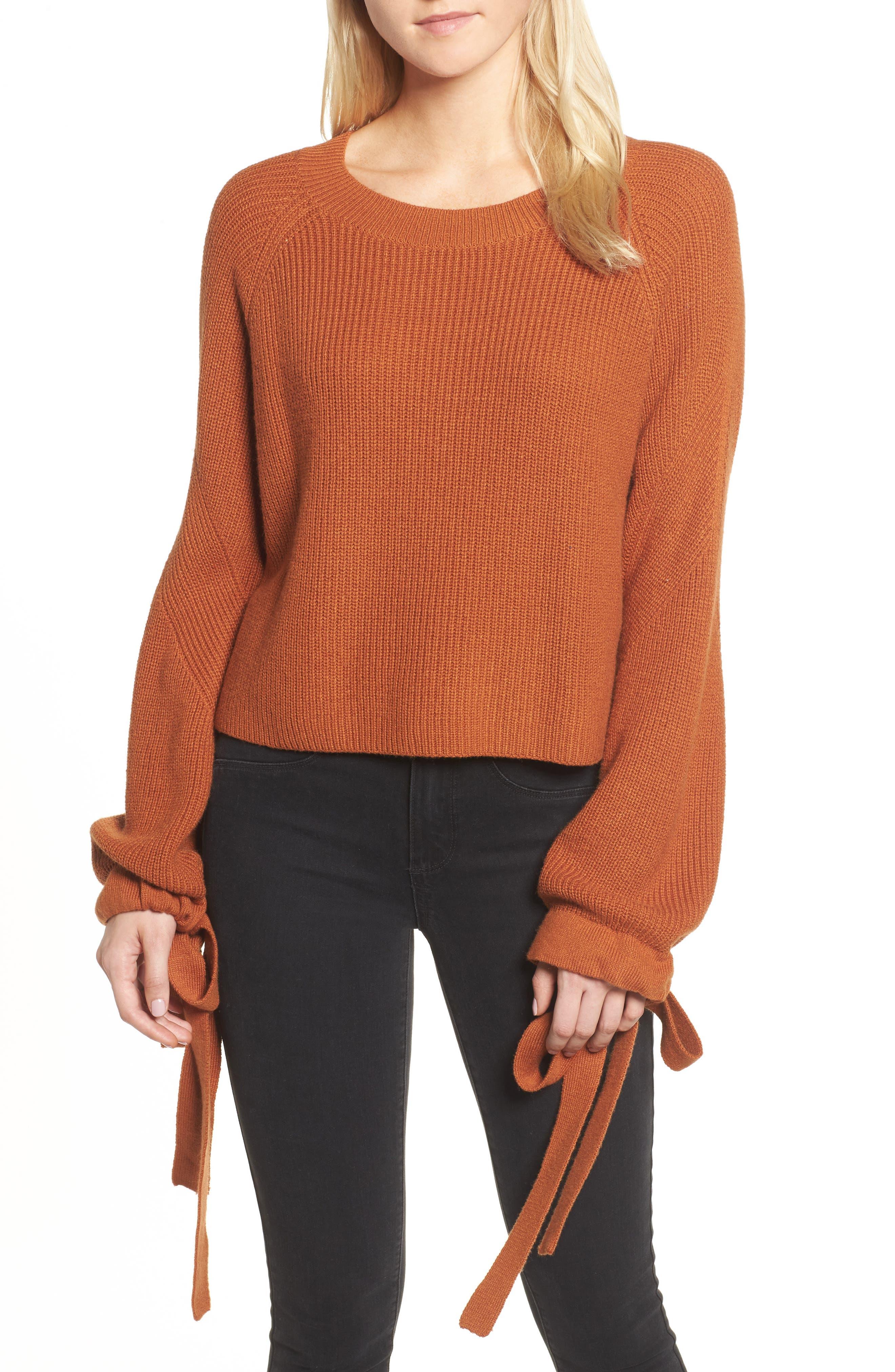 Trouvé Tie Sleeve Crop Sweater
