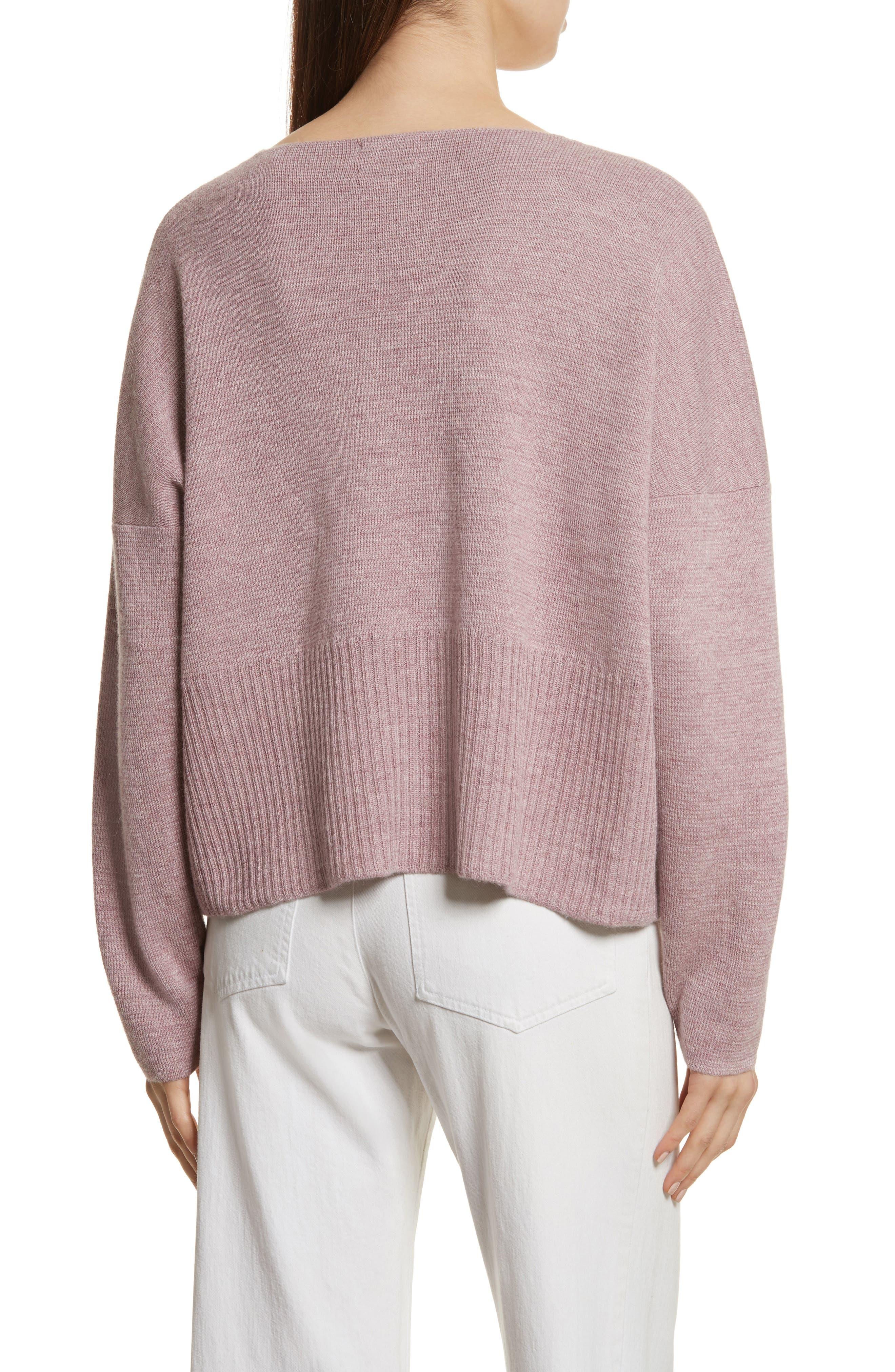 Fount Alpaca Hair Sweater,                             Alternate thumbnail 2, color,                             Lilac