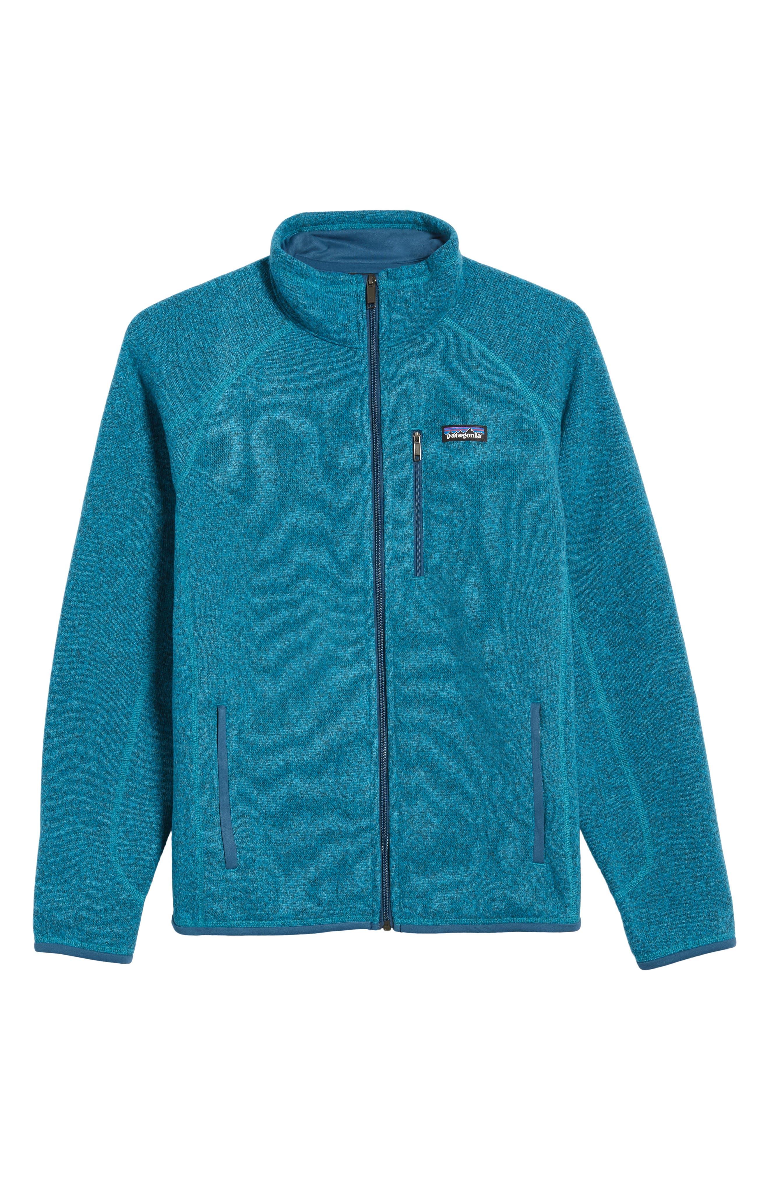 Better Sweater Zip Front Jacket,                             Alternate thumbnail 5, color,                             Filter Blue