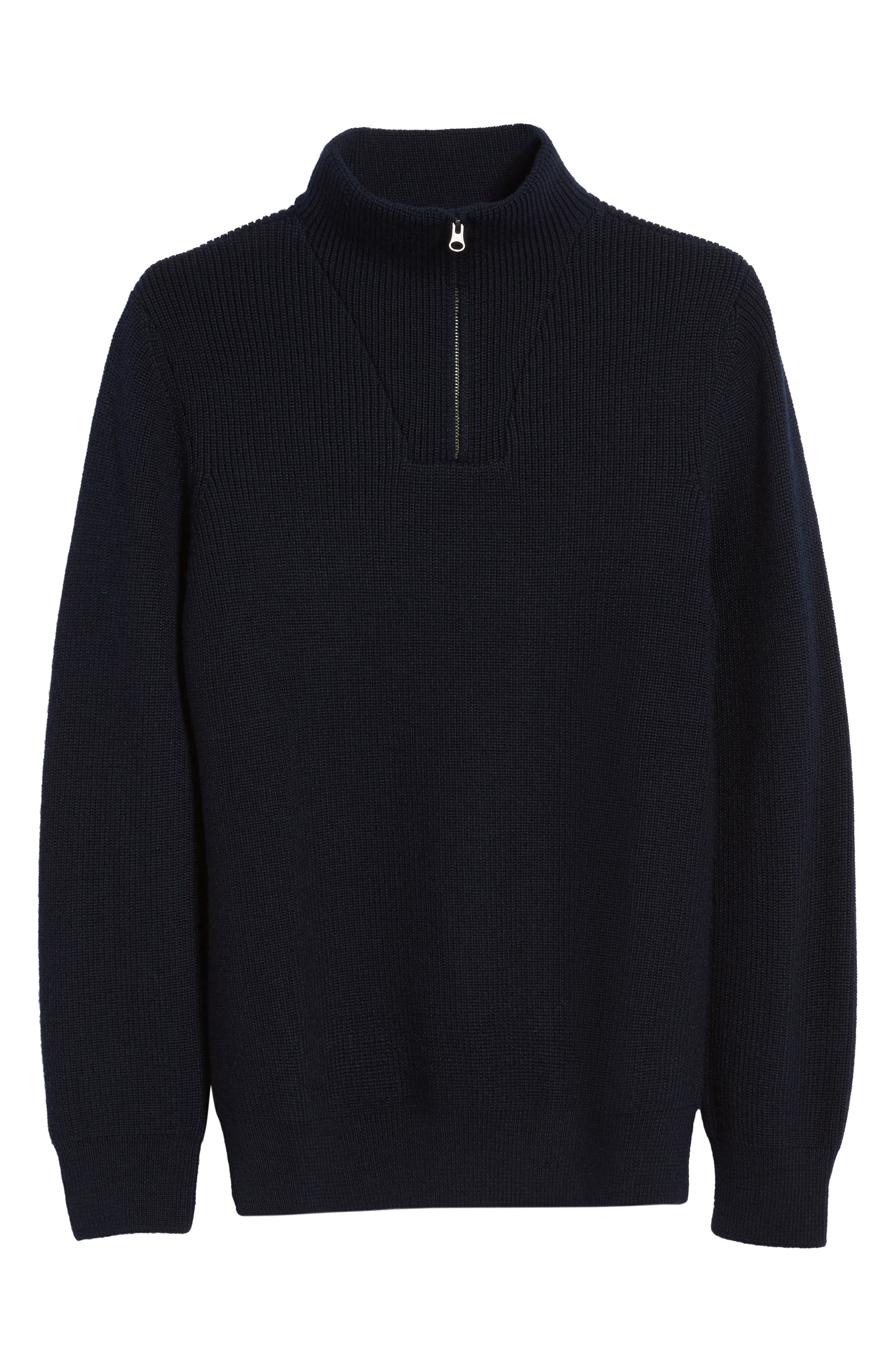 Alternate Image 6  - Nordstrom Men's Shop Ribbed Quarter Zip Sweater