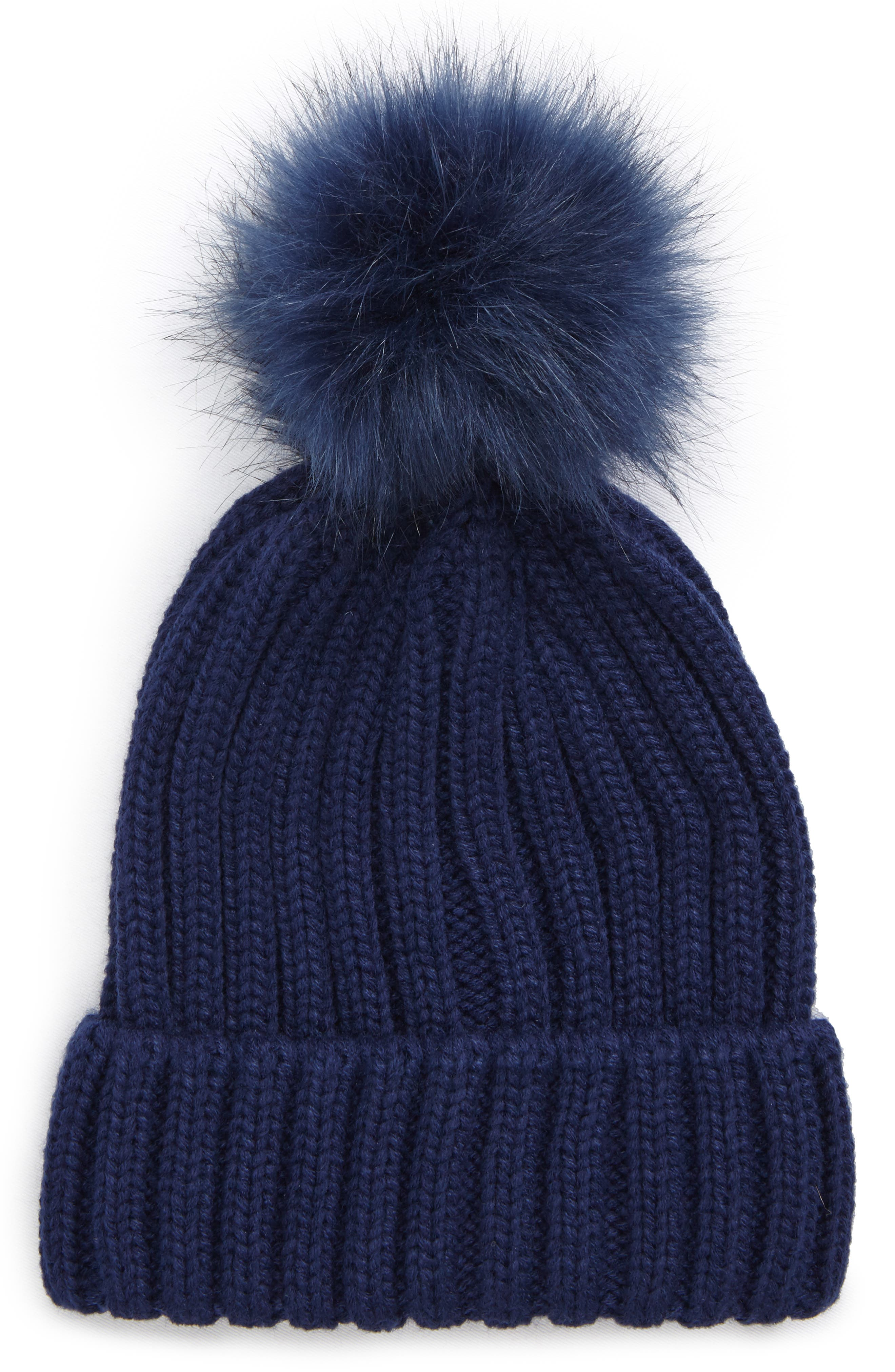 Alternate Image 1 Selected - BP. Faux Fur Pompom Beanie
