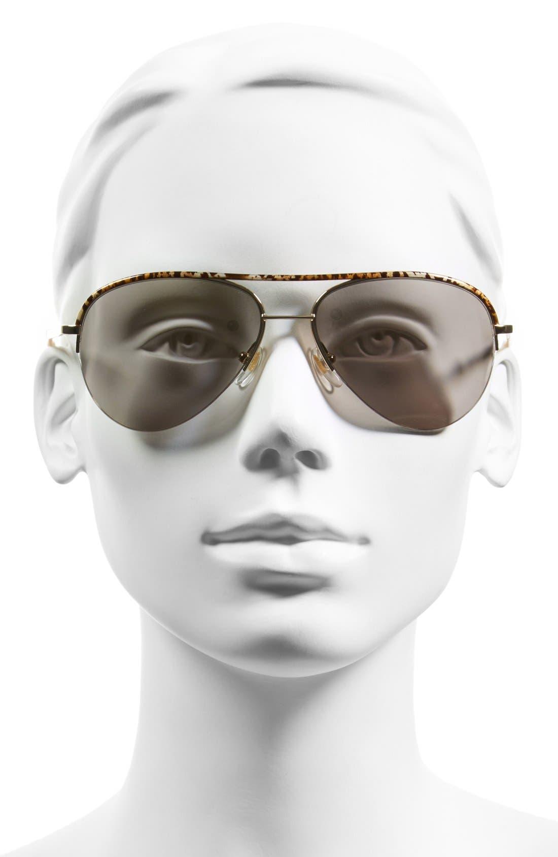 Alternate Image 2  - Diane von Furstenberg 'Farrah' 58mm Aviator Sunglasses