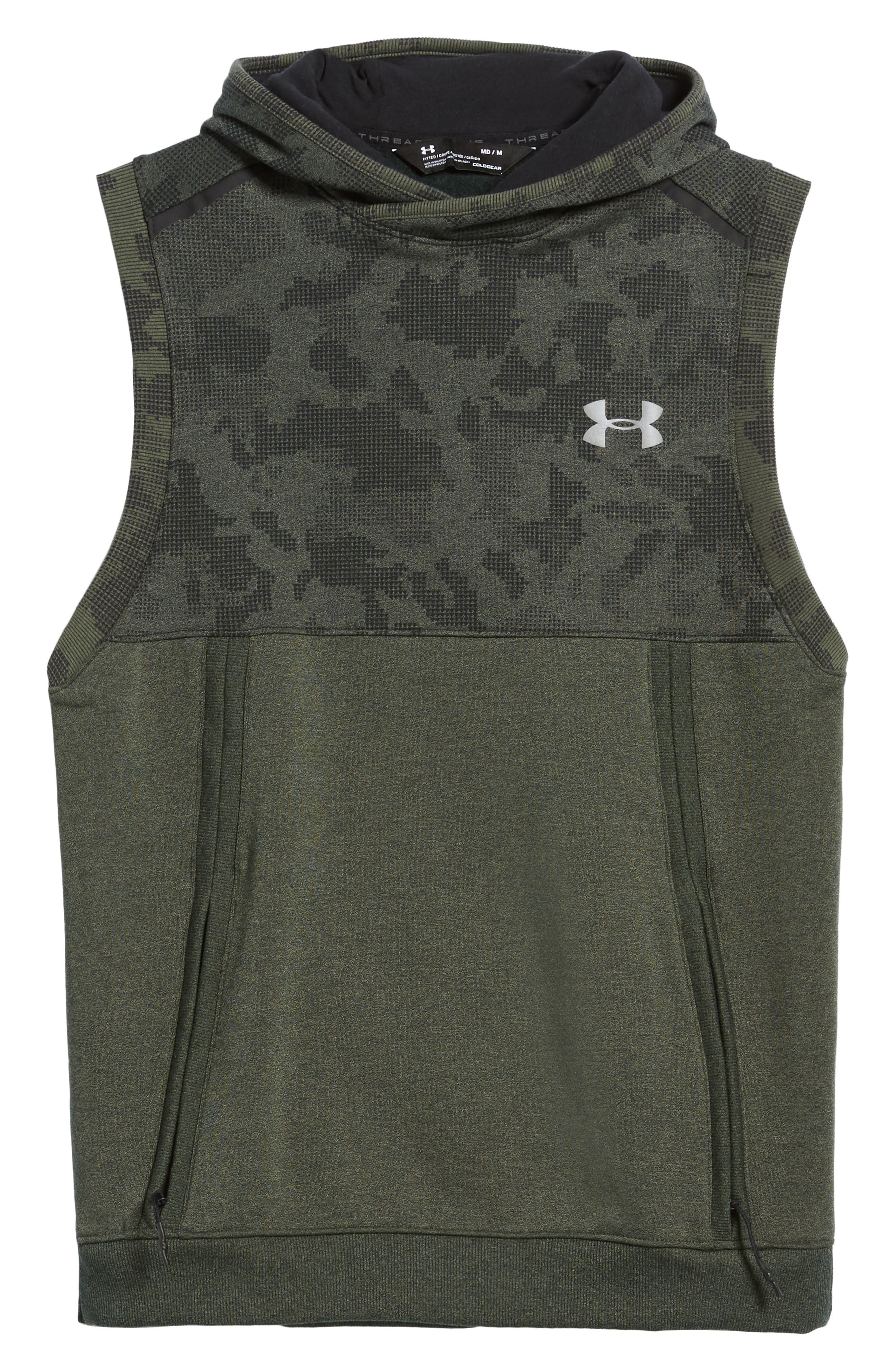 Threadborne Hooded Vest,                             Alternate thumbnail 6, color,                             Downtown Green / Refletive