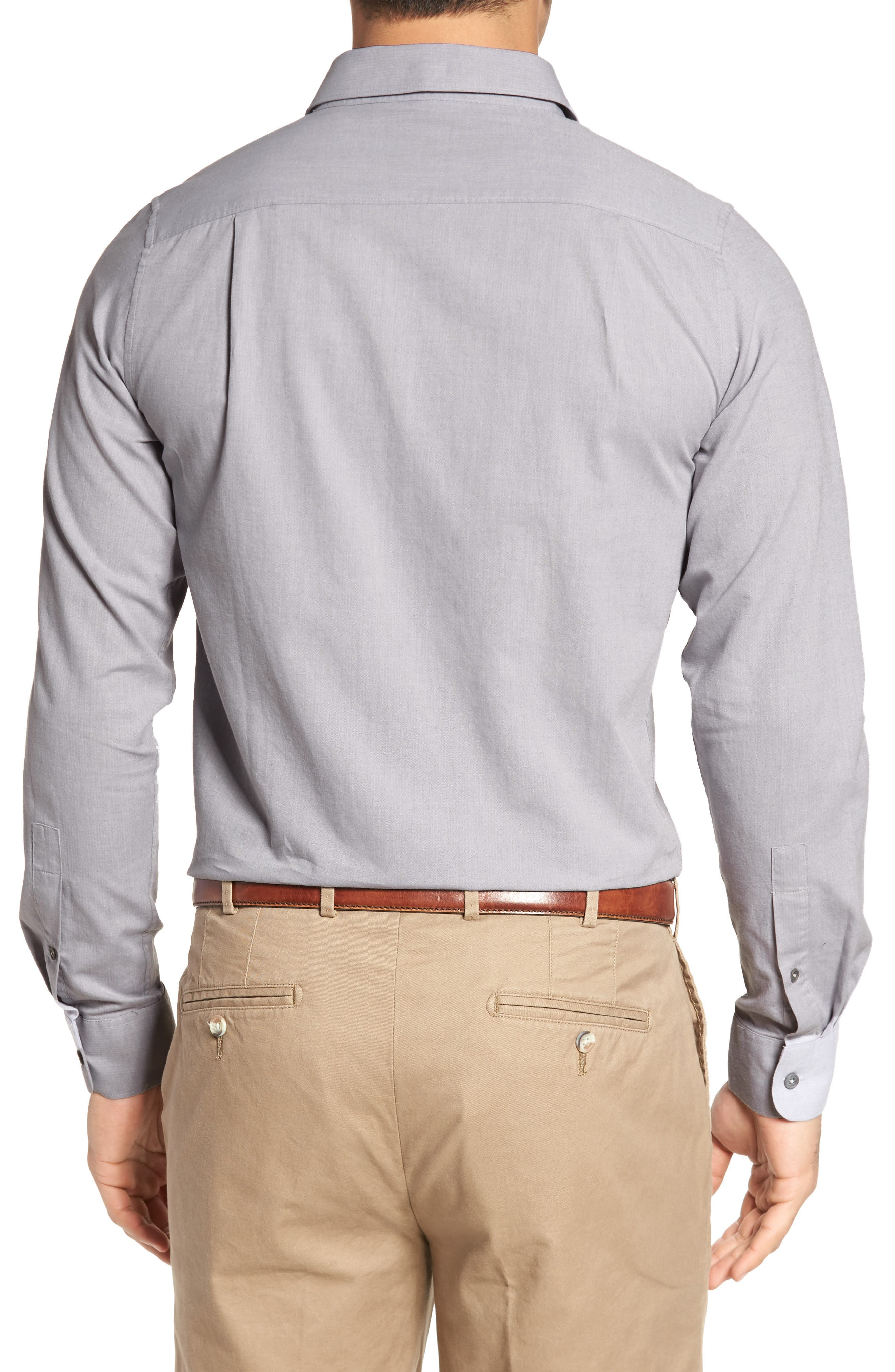 Alternate Image 2  - Travis Mathew Gotemba Slim Fit Herringbone Sport Shirt