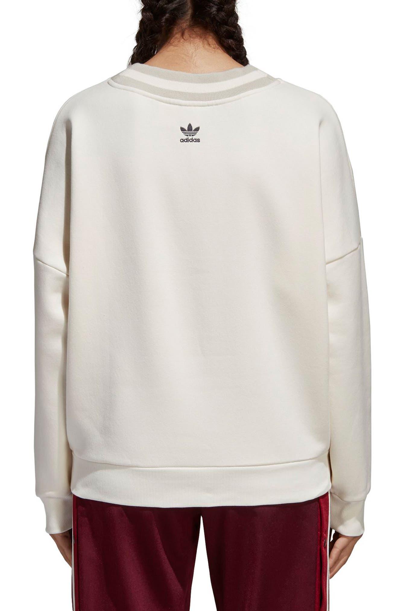 Originals Adibreak Sweatshirt,                             Alternate thumbnail 2, color,                             Chalk White/ Chalk White