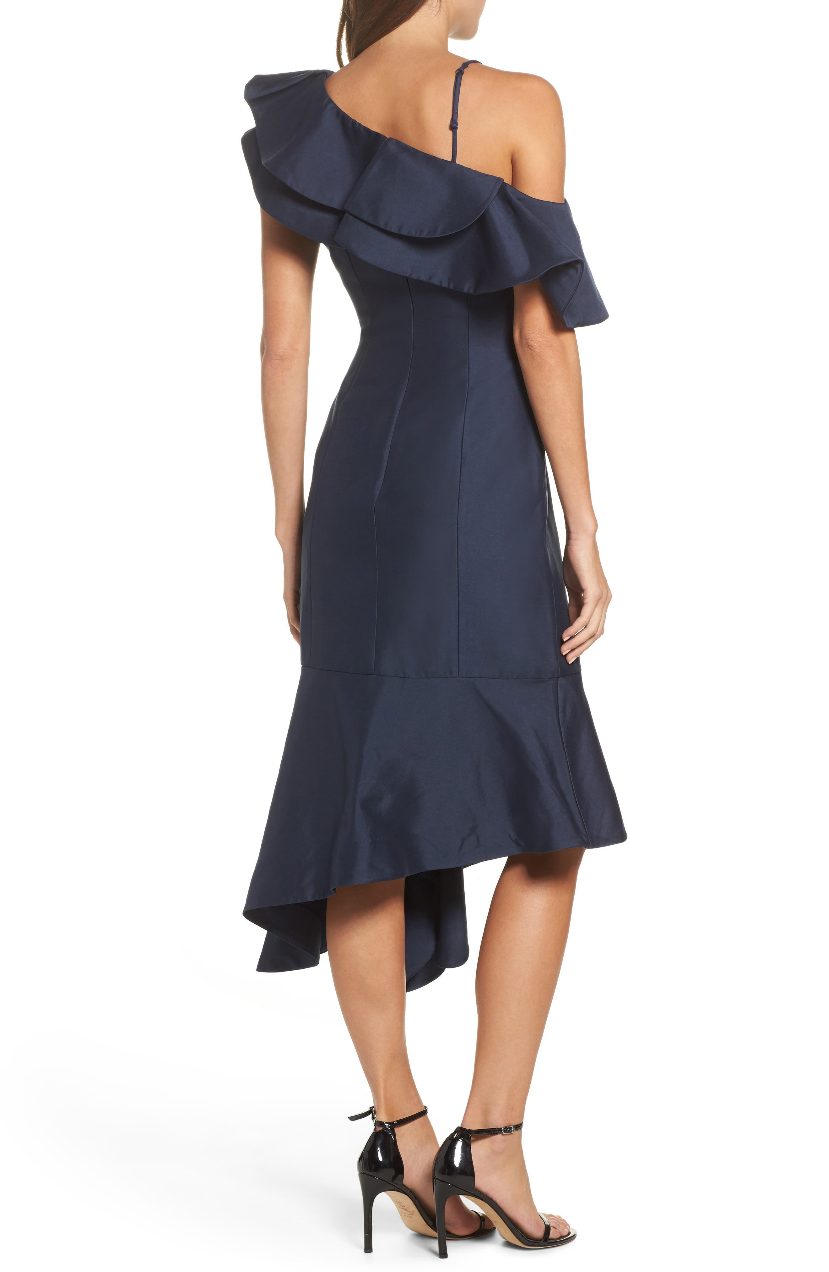 Night Lights Midi Dress,                             Alternate thumbnail 2, color,                             Navy