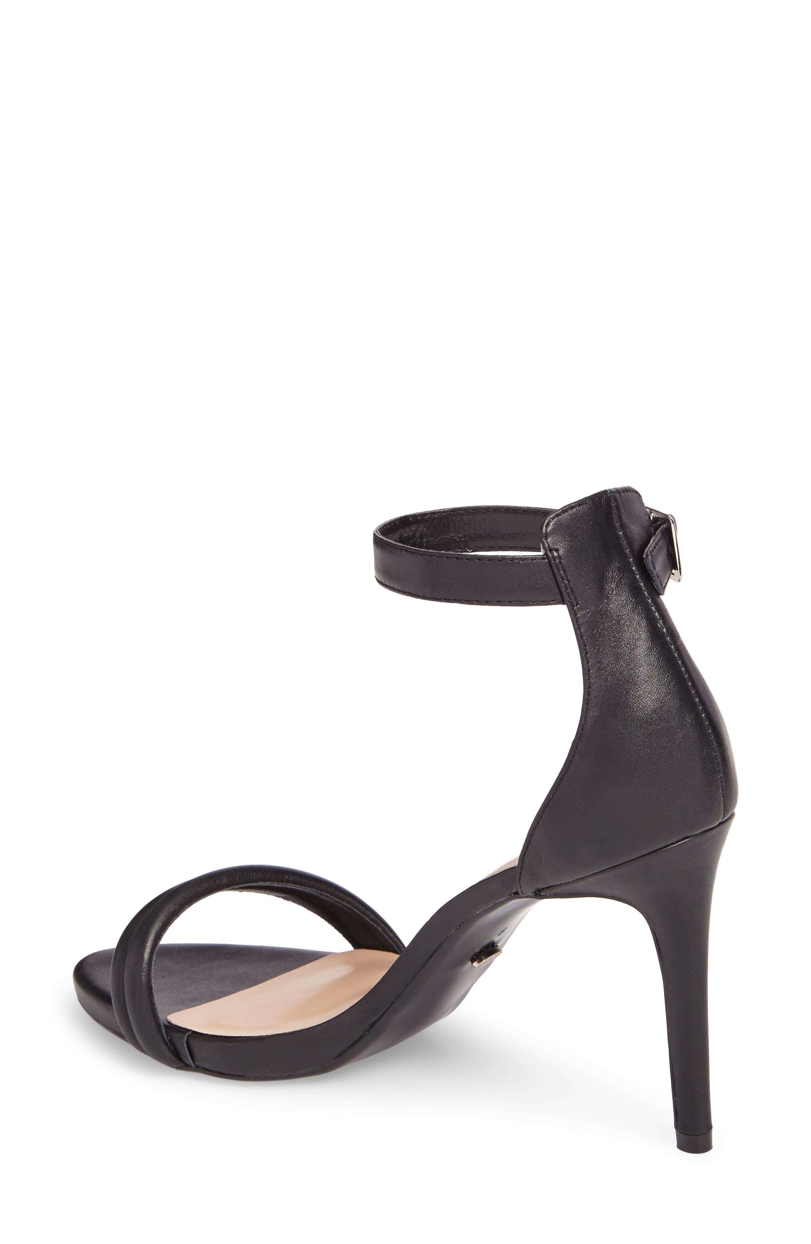 Camila Strappy Sandal,                             Alternate thumbnail 2, color,                             Black Capretto Leather