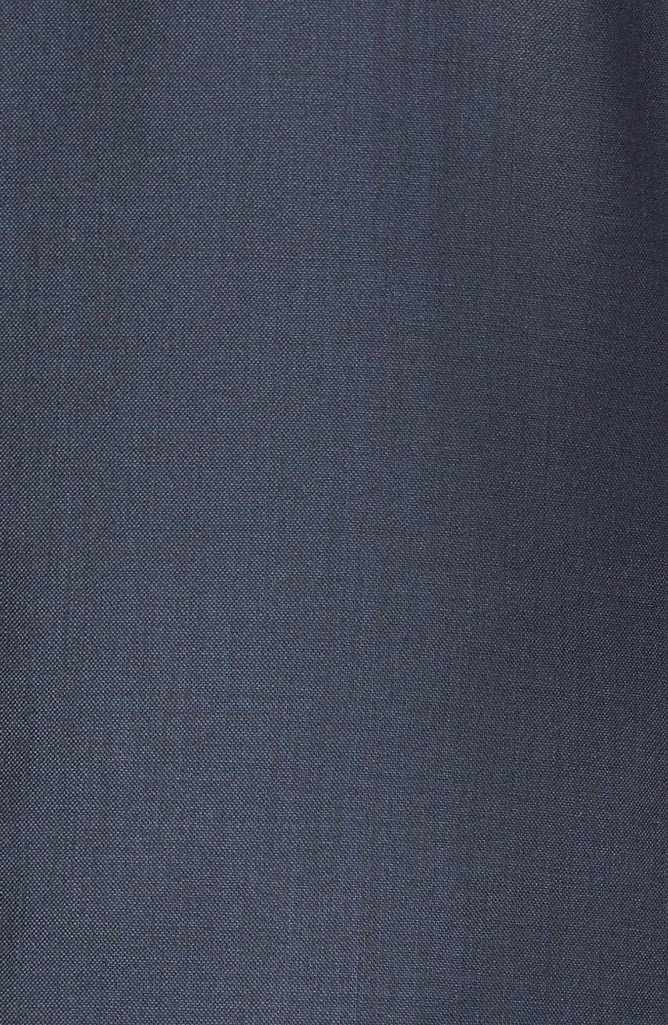 Modern H Fit Solid Loro Piana Wool Suit,                             Alternate thumbnail 7, color,                             Navy Sharkskin