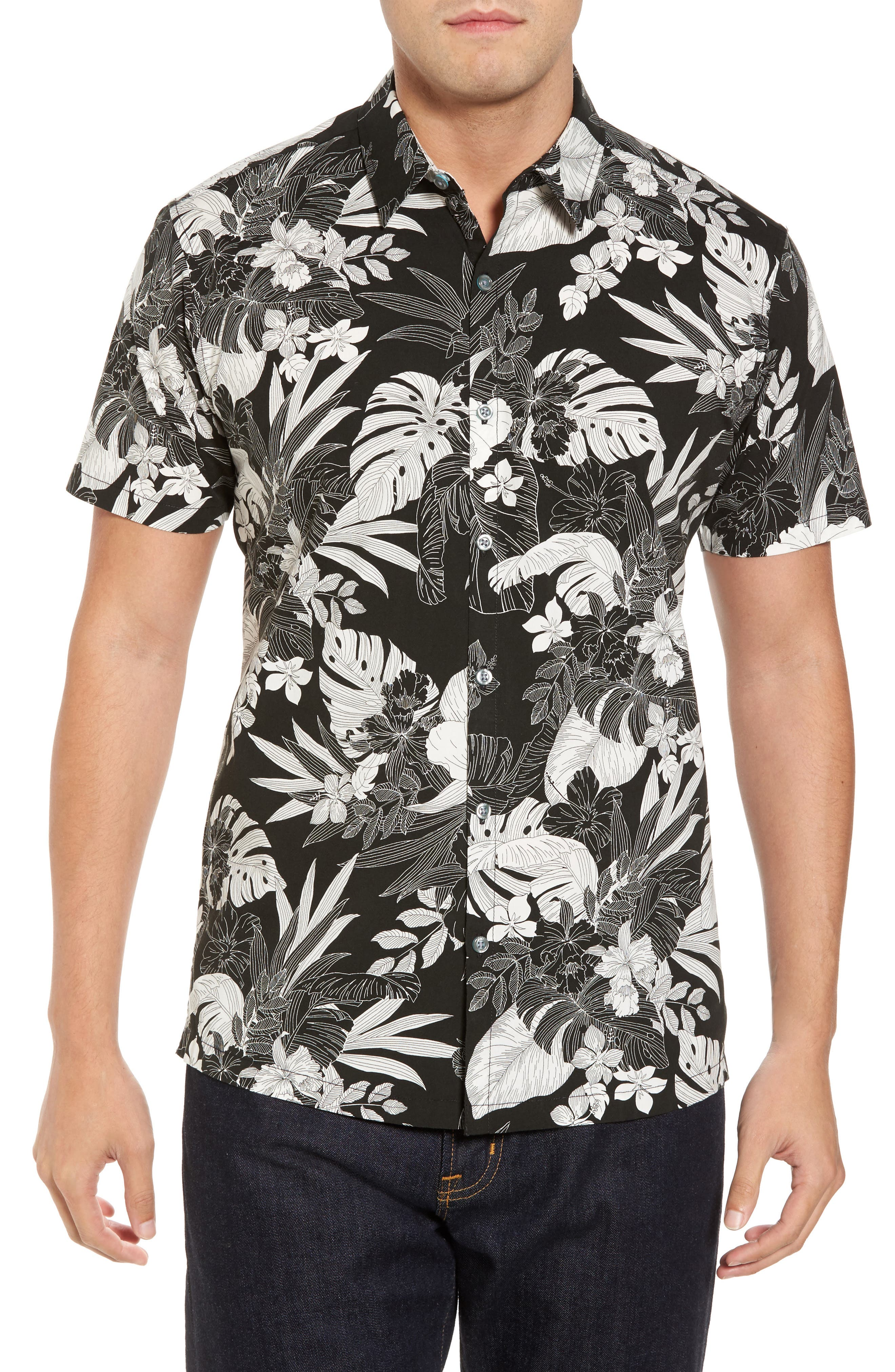 Tori Richard Orchestral Slim Fit Camp Shirt