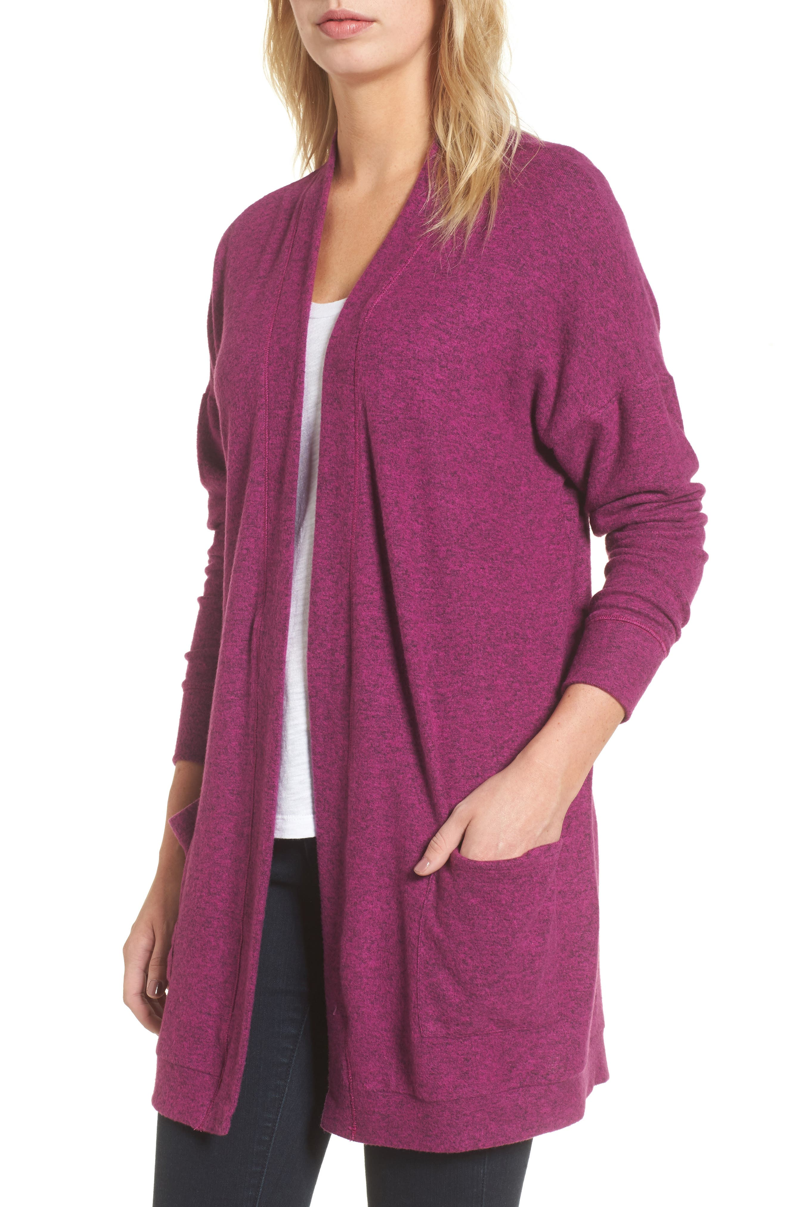 Gibson Cozy Fleece Cardigan (Regular & Petite)