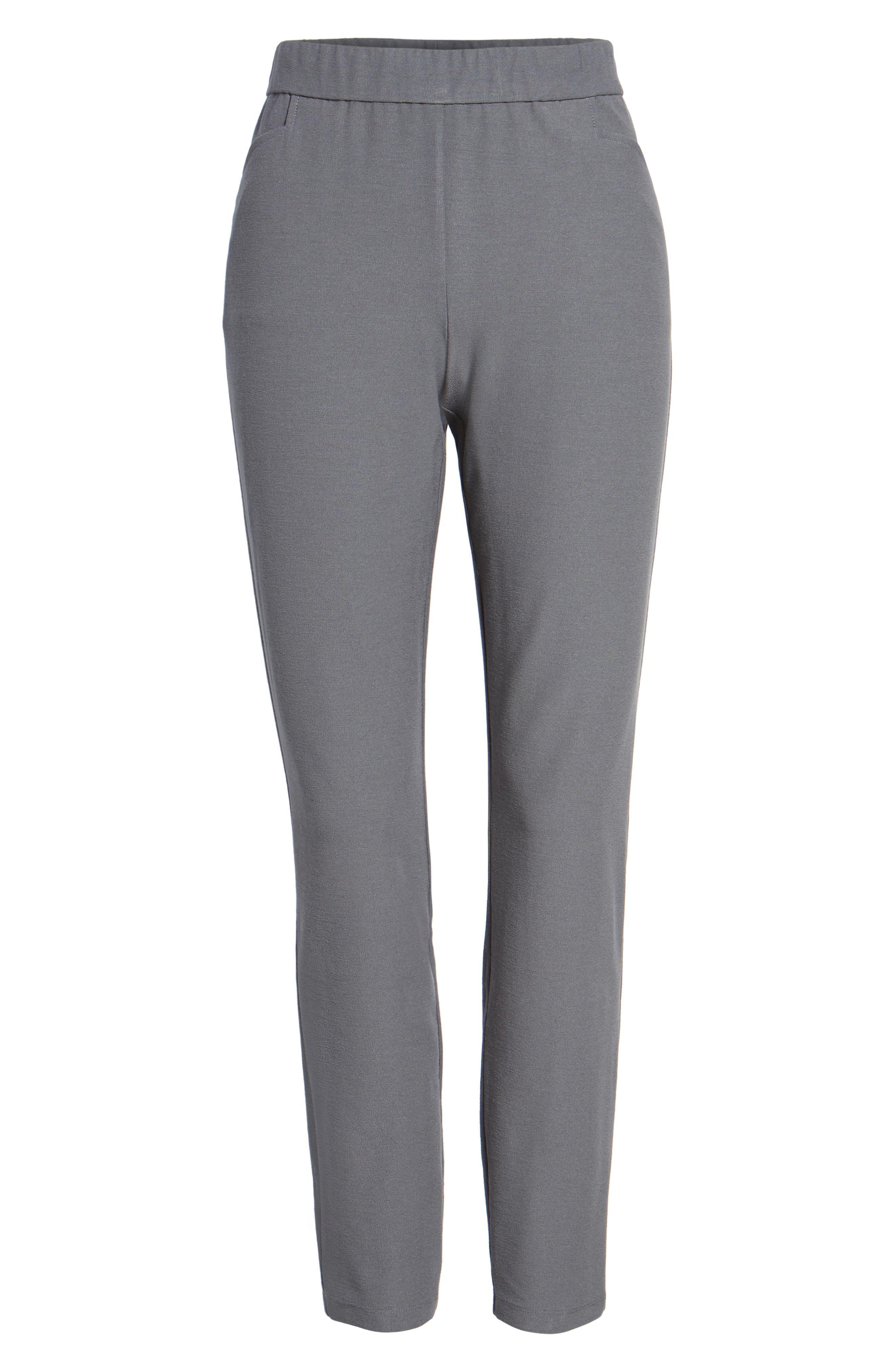 Slim Knit Pants,                             Alternate thumbnail 5, color,                             Ash