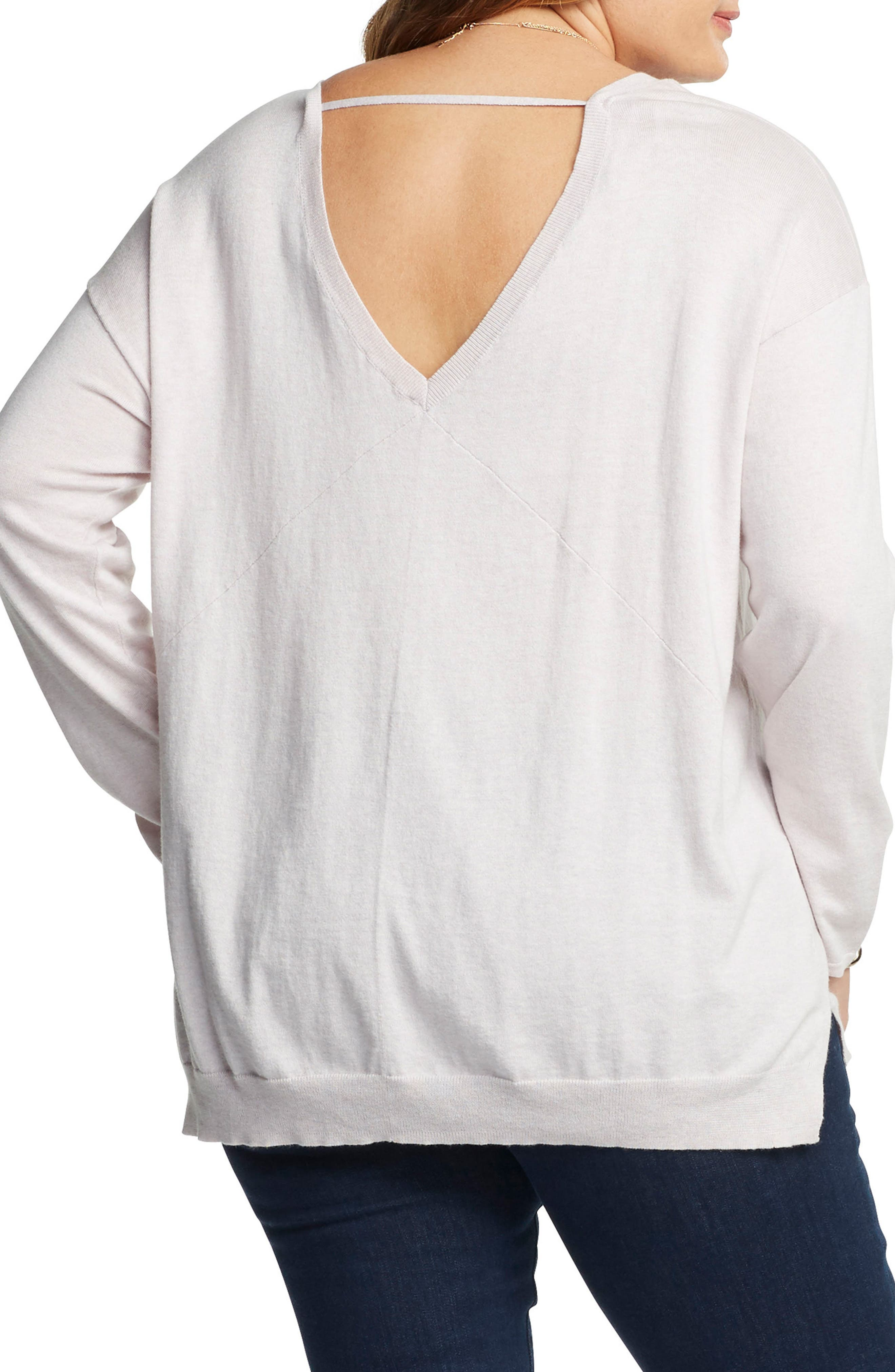 Alternate Image 2  - Tart Abella Cotton & Cashmere Sweater (Plus Size)