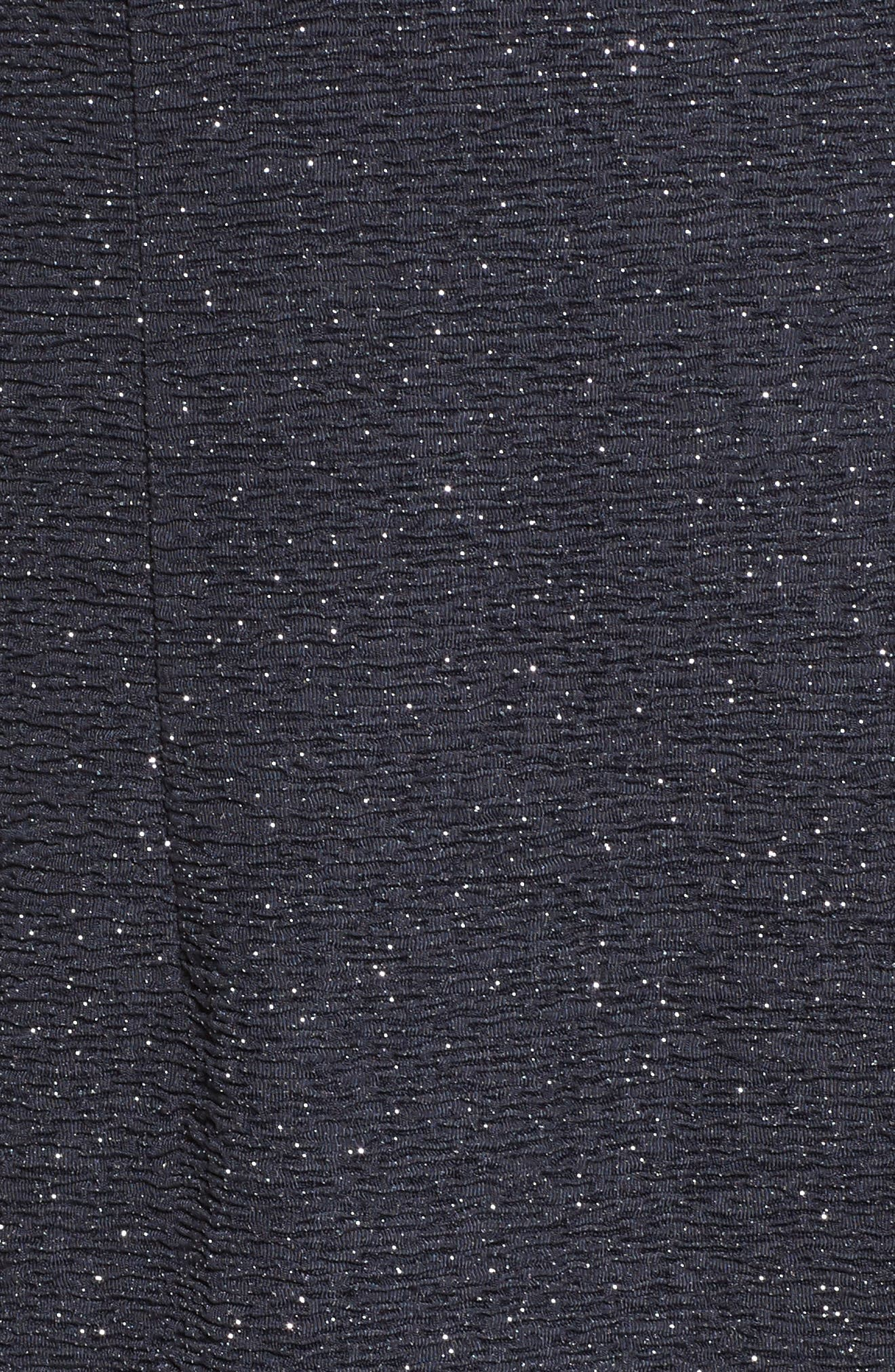 Alternate Image 5  - Eliza J Glitter Knit Ruffle Off the Shoulder Dress