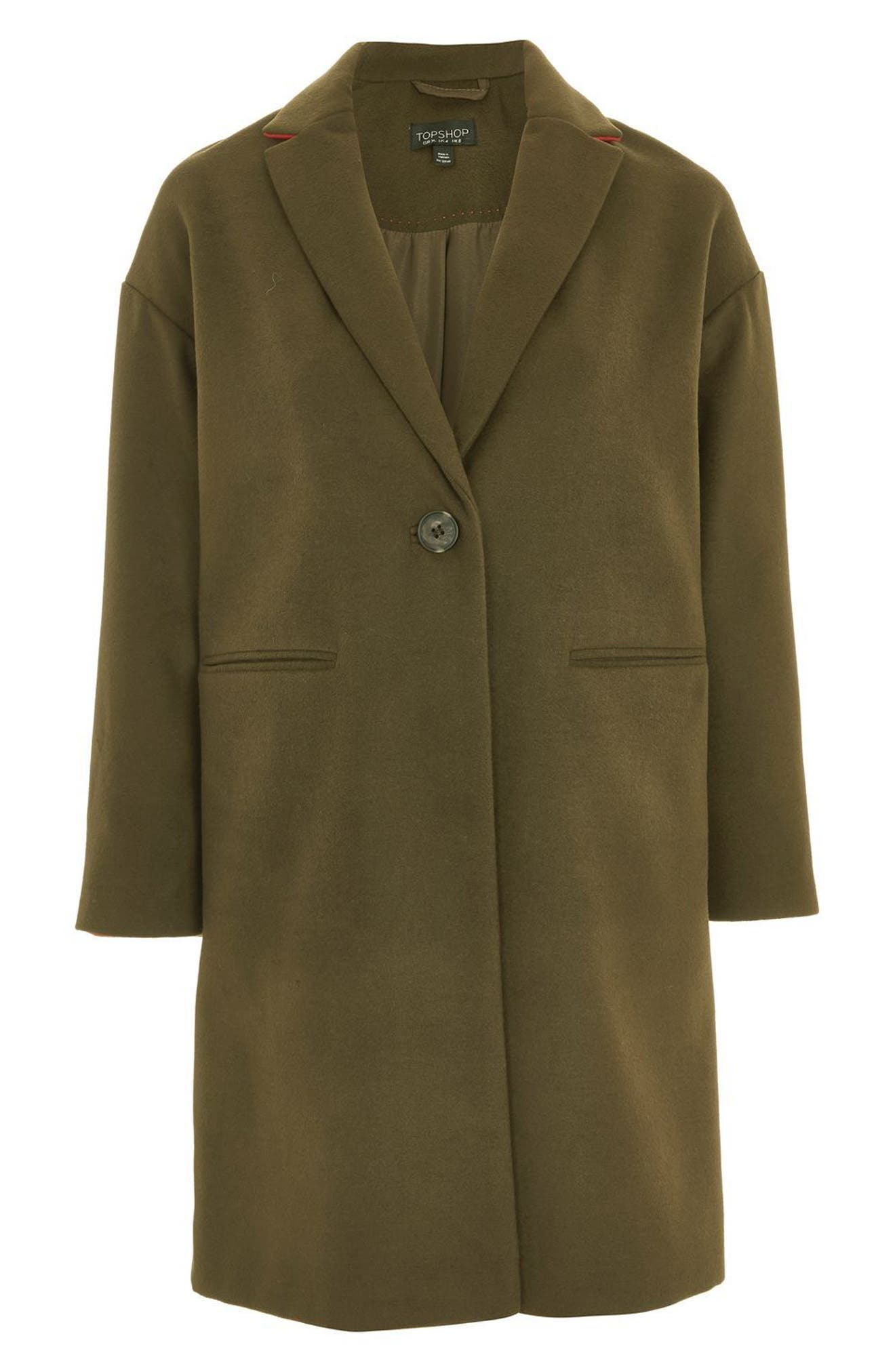 Alternate Image 4  - Topshop Millie Relaxed Fit Coat