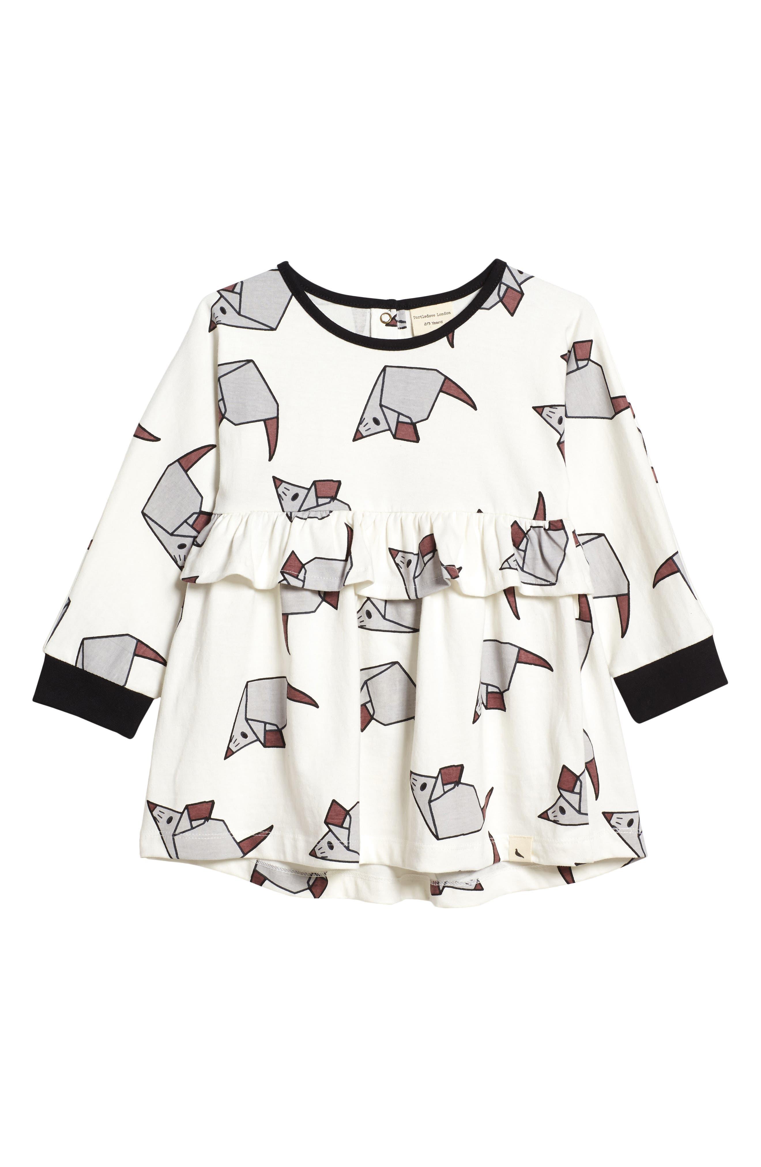 Turtledove London Origami Mouse Dress (Toddler Girls)