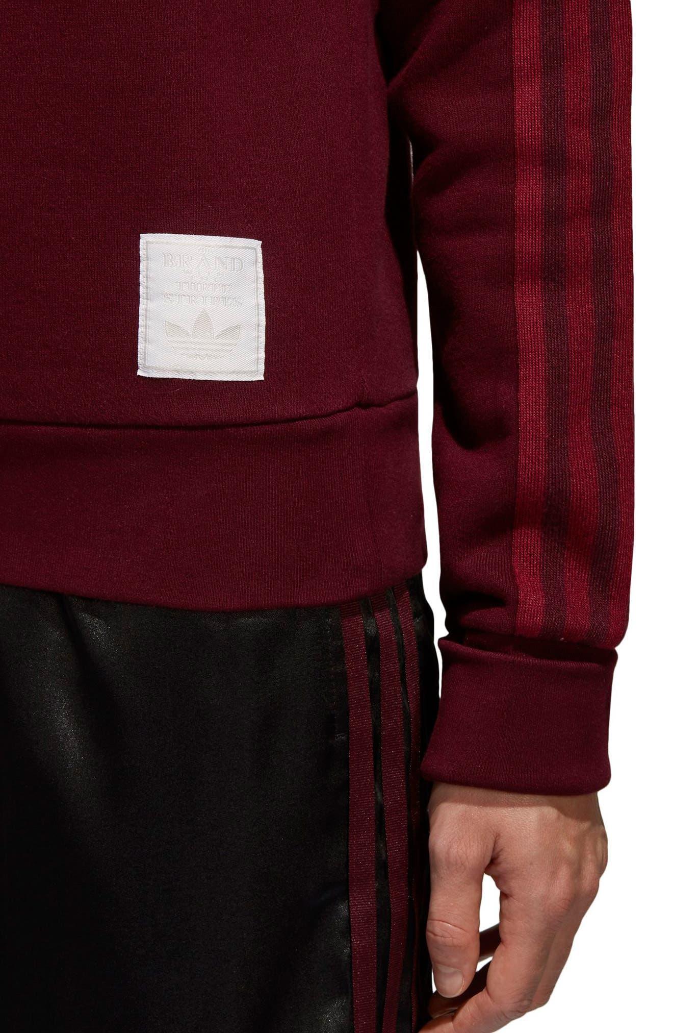 Originals Adibreak Sweatshirt,                             Alternate thumbnail 6, color,                             Maroon