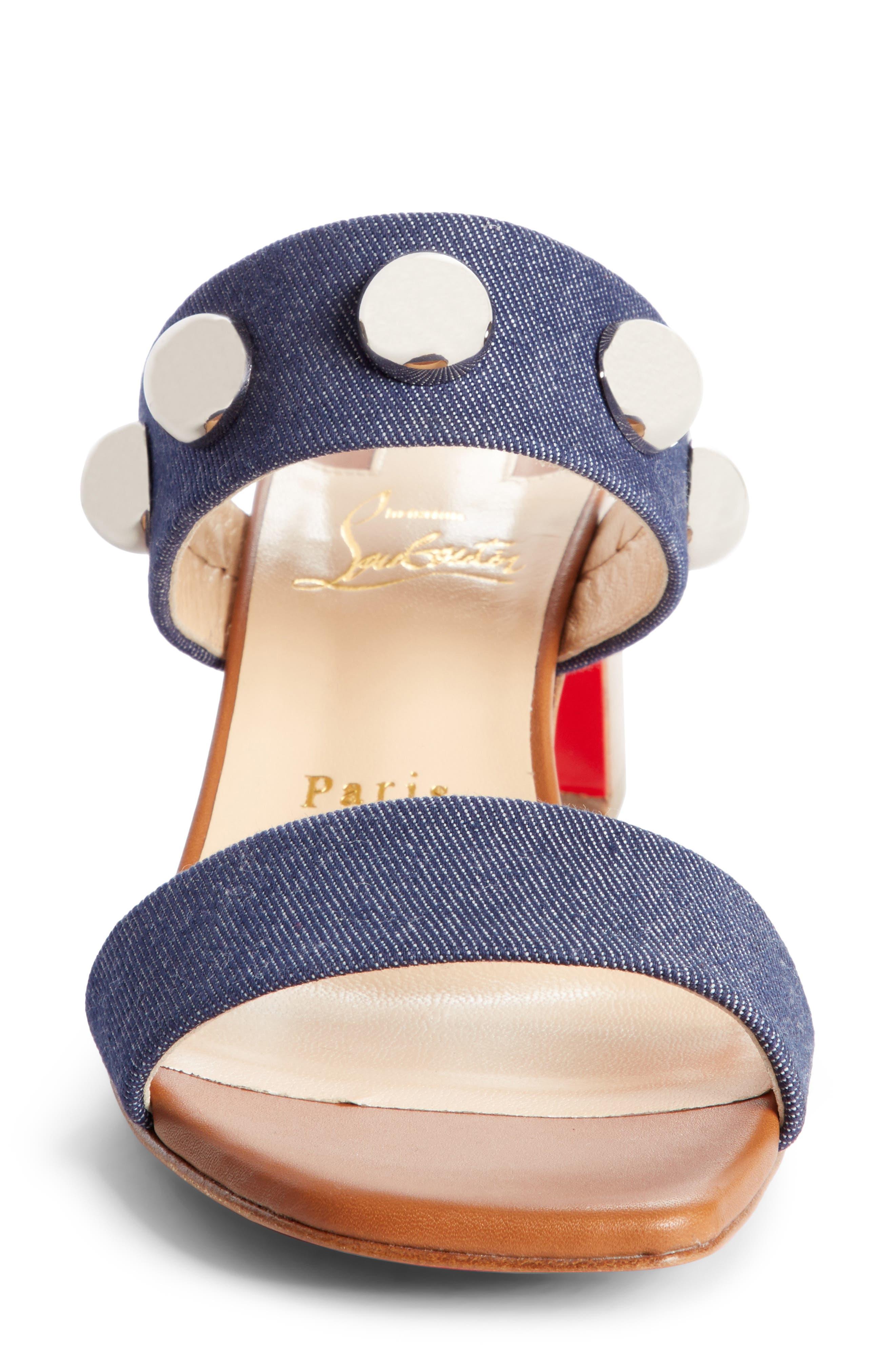 Alternate Image 4  - Christian Louboutin Simple Bille Ornament Slide Sandal (Women)