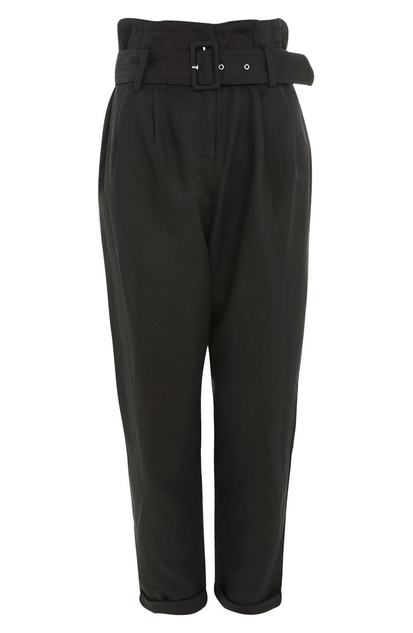 Alternate Image 4  - Topshop Mensy Belted Trousers