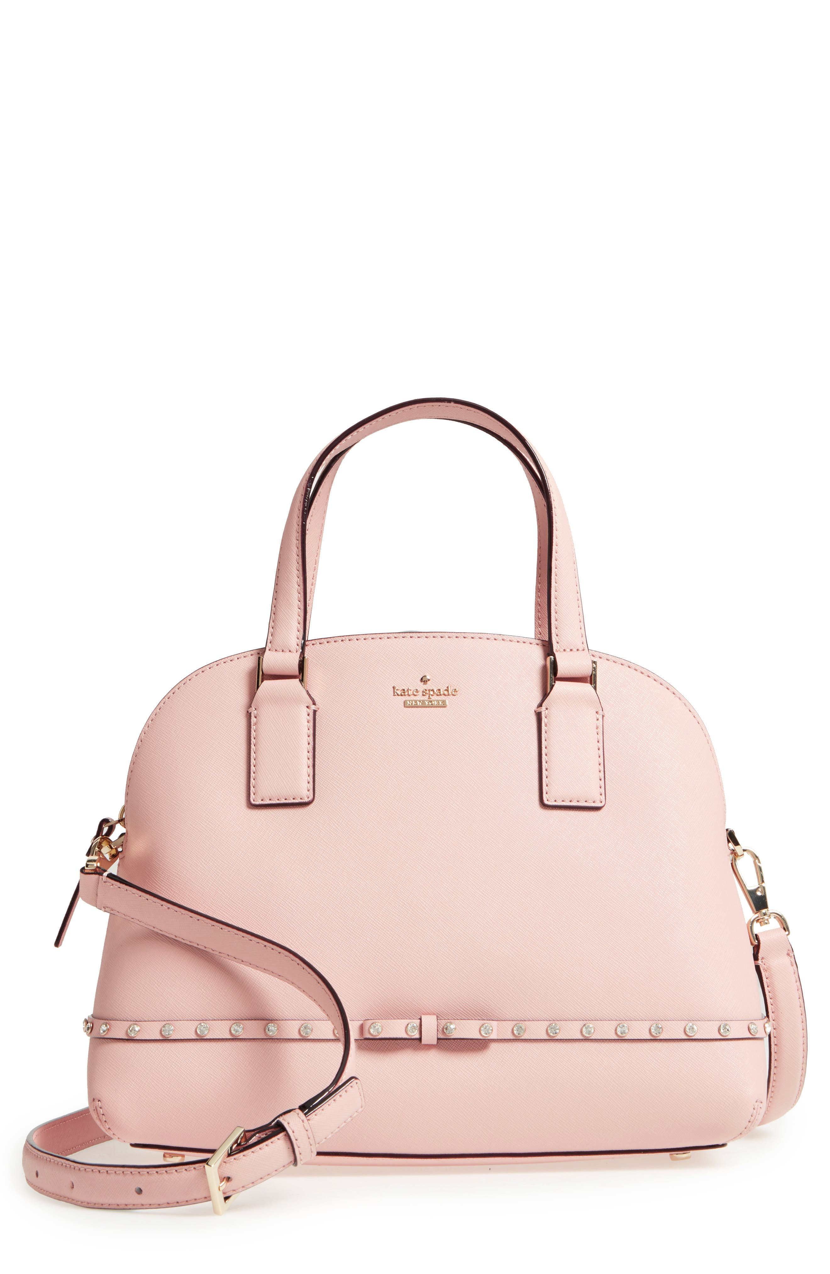 kate spade new york cameron street - jeweled lottie leather satchel