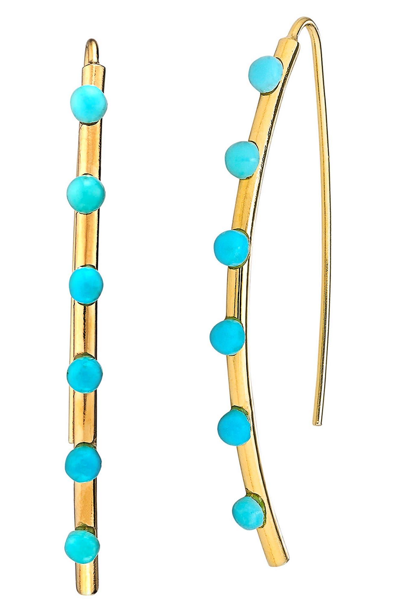 Emilia Small Earrings,                         Main,                         color, Turquoise