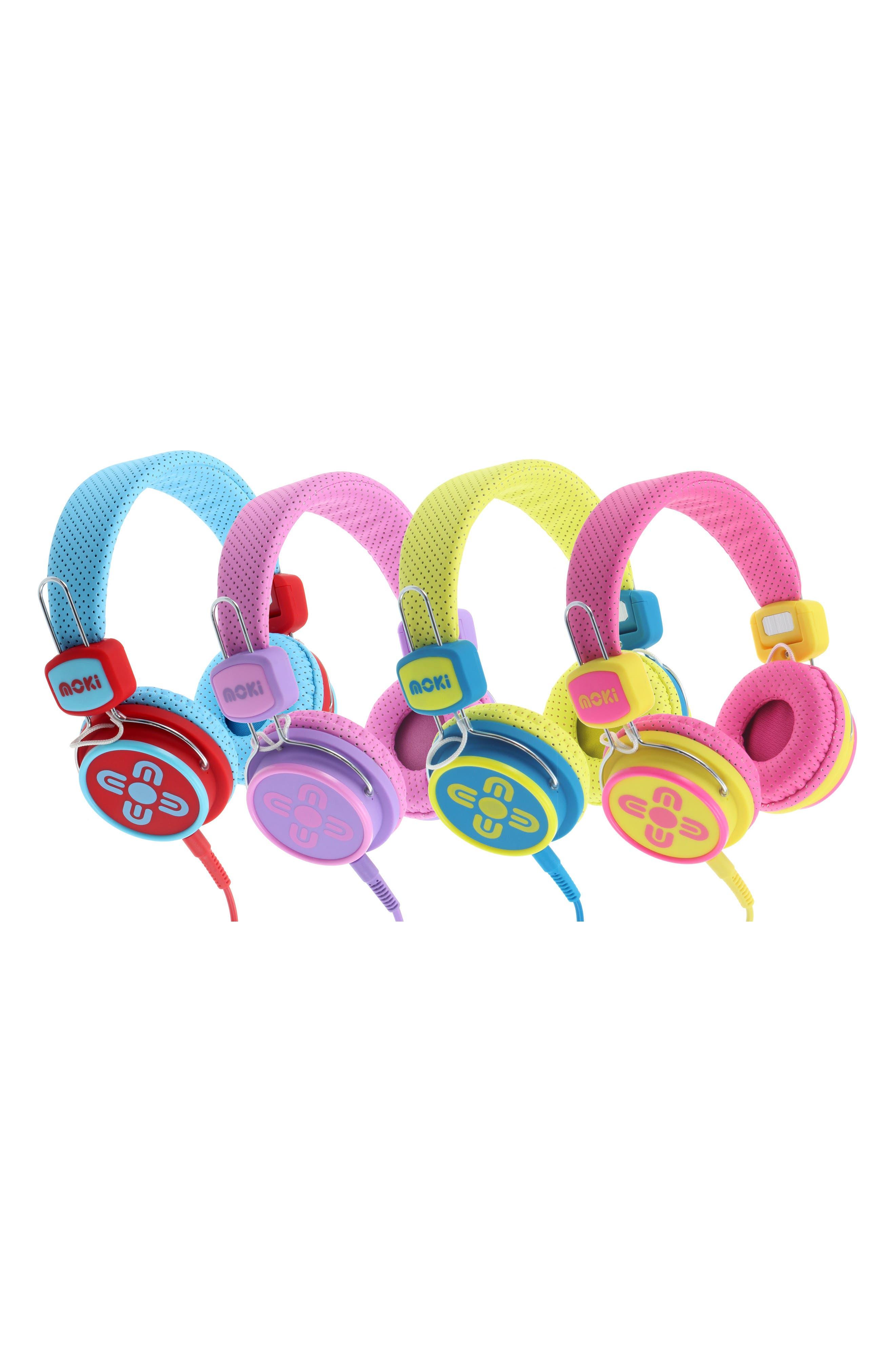 Volume Limited Headphones,                             Alternate thumbnail 5, color,                             Pink/ Purple