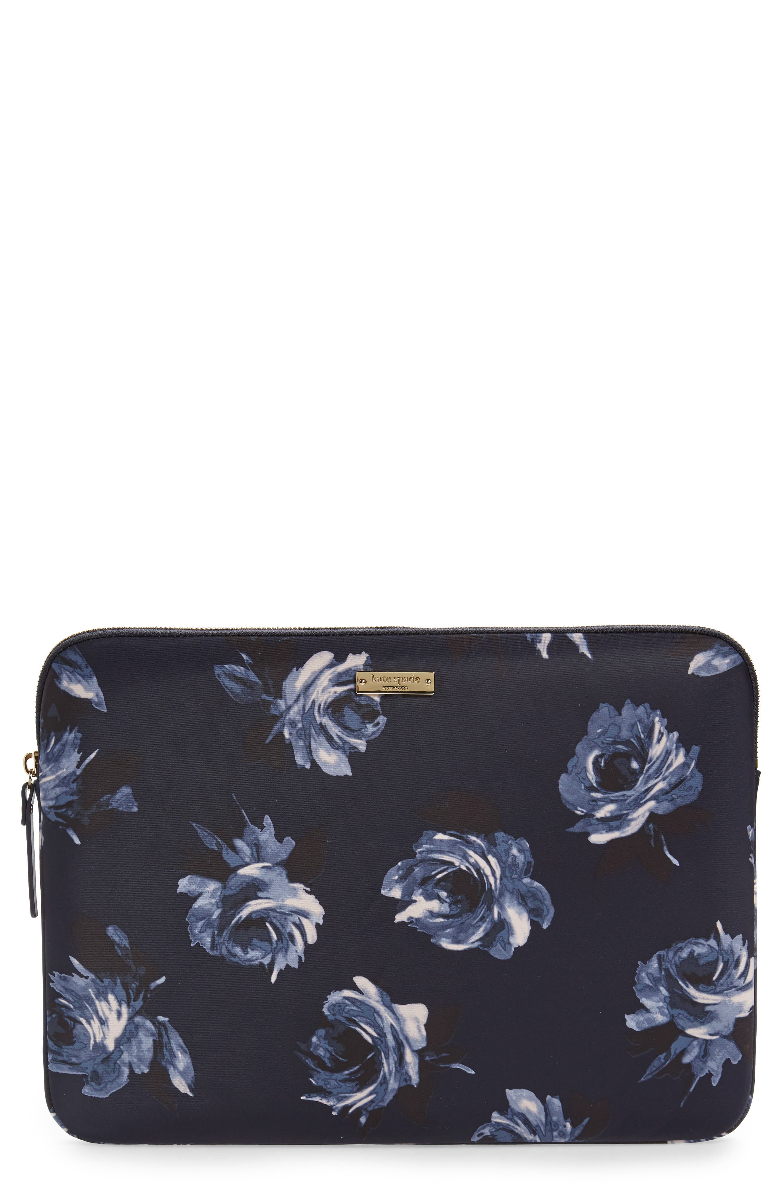 night rose 13-Inch laptop sleeve,                             Main thumbnail 1, color,                             Multi
