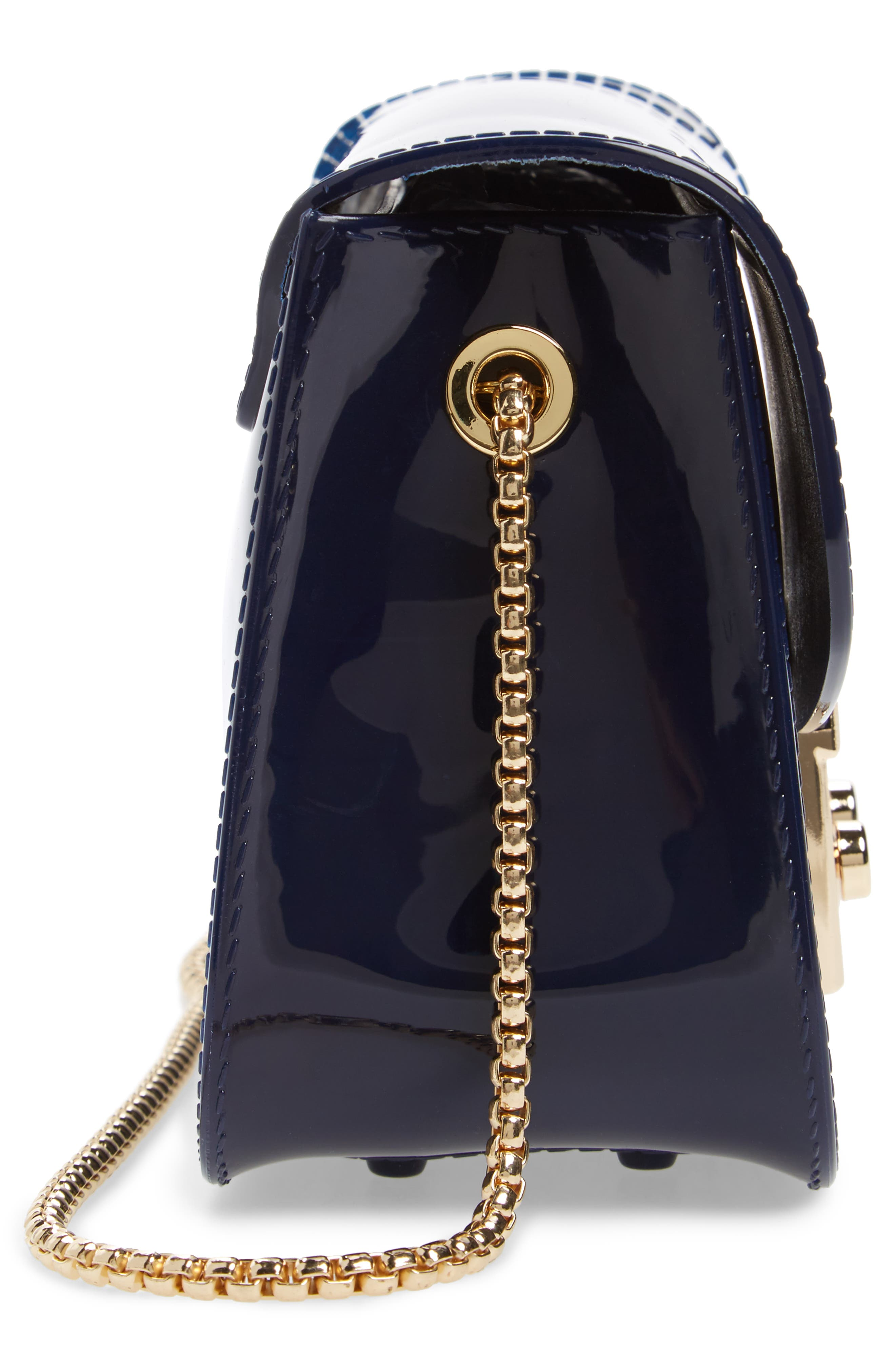 Jelly Shoulder Bag,                             Alternate thumbnail 3, color,                             Navy