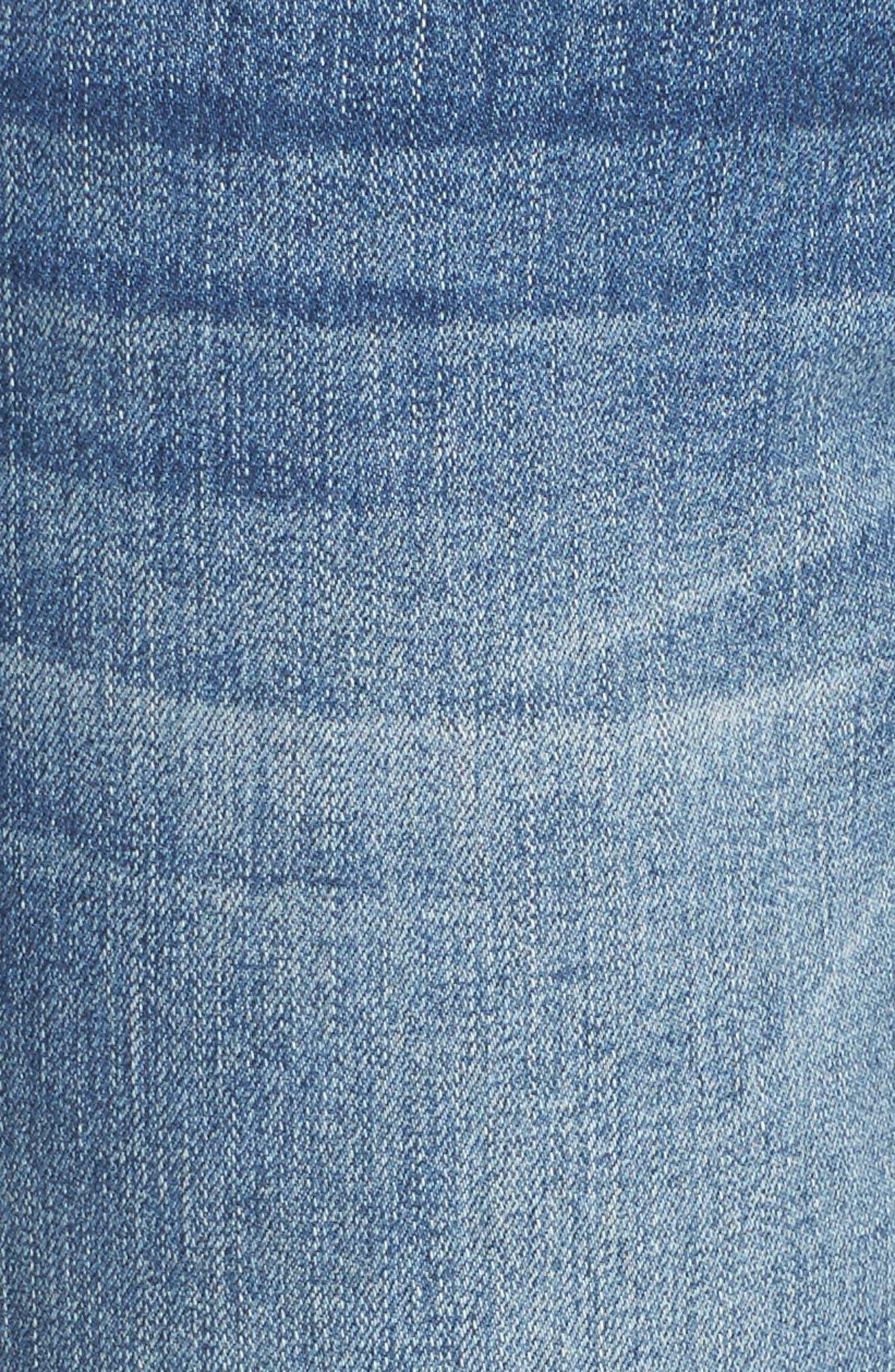 Long Straight Ankle Jeans,                             Alternate thumbnail 5, color,                             Horizon Blue