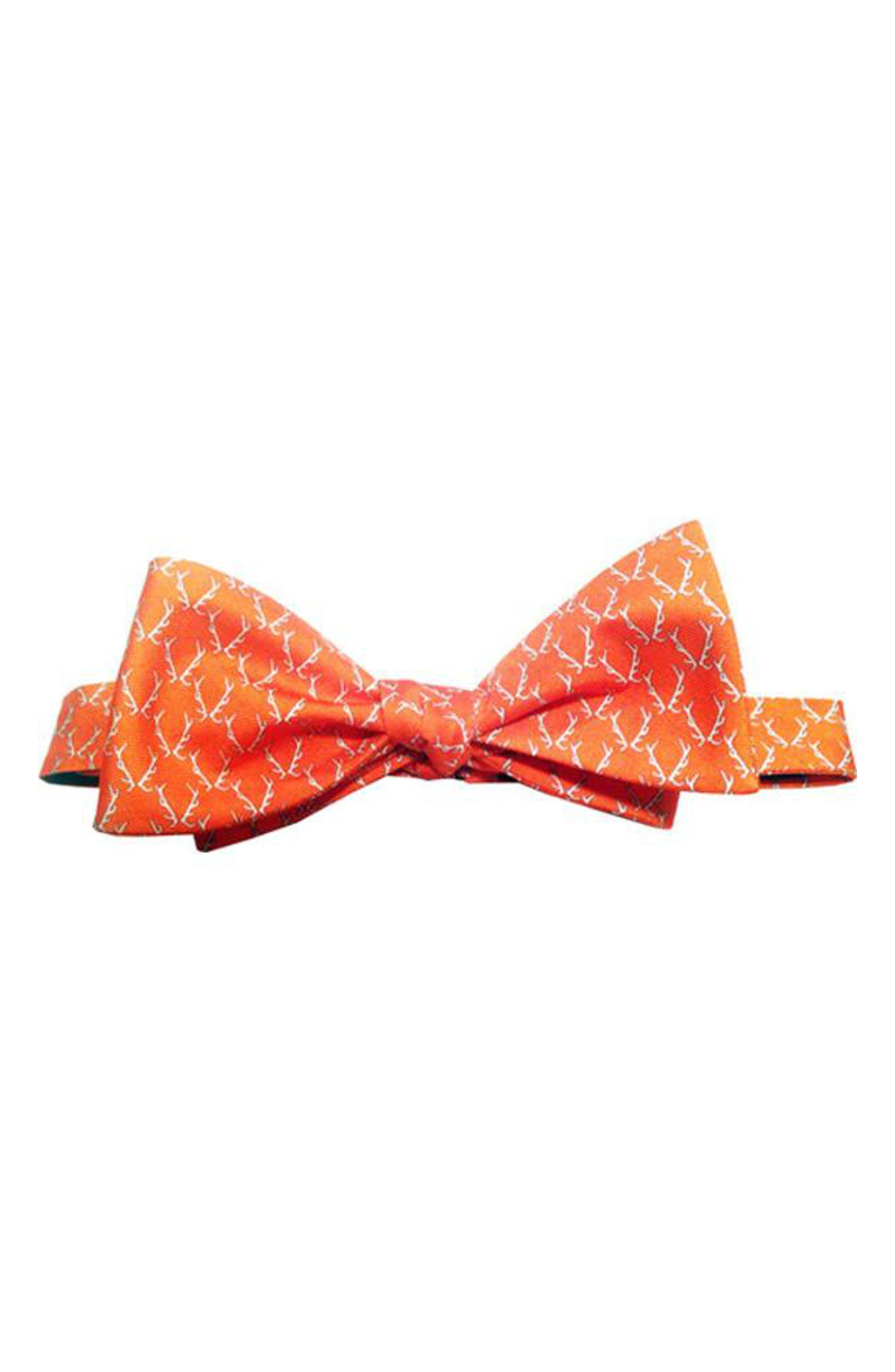 Buckwild Silk Bow Tie,                         Main,                         color, Orange