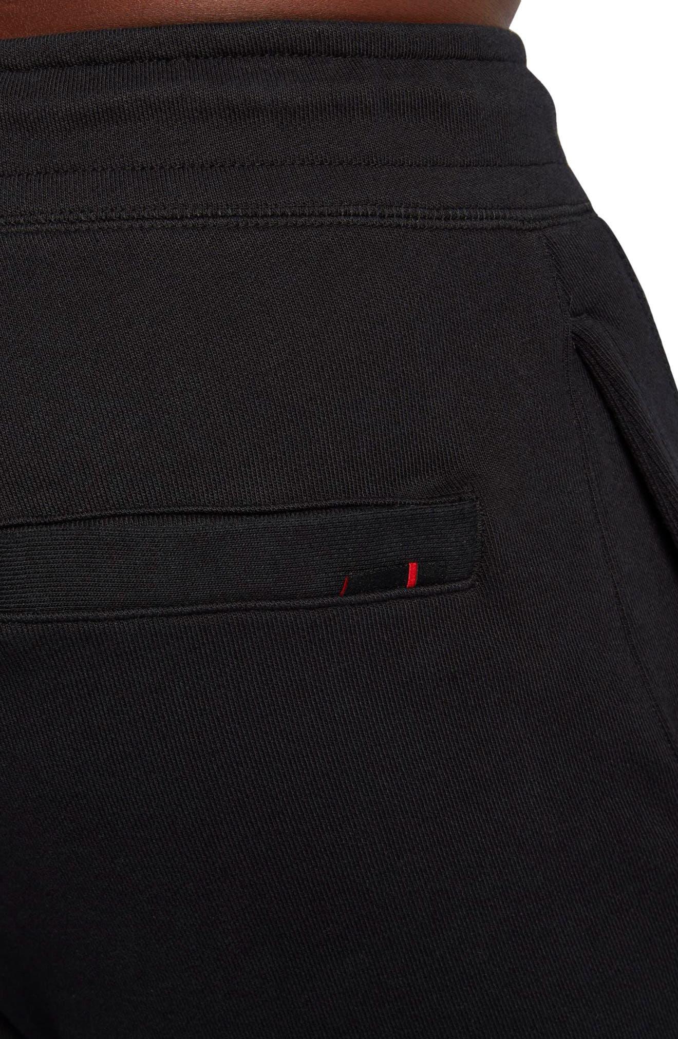Wings Fleece Pants,                             Alternate thumbnail 4, color,                             Black/ Black