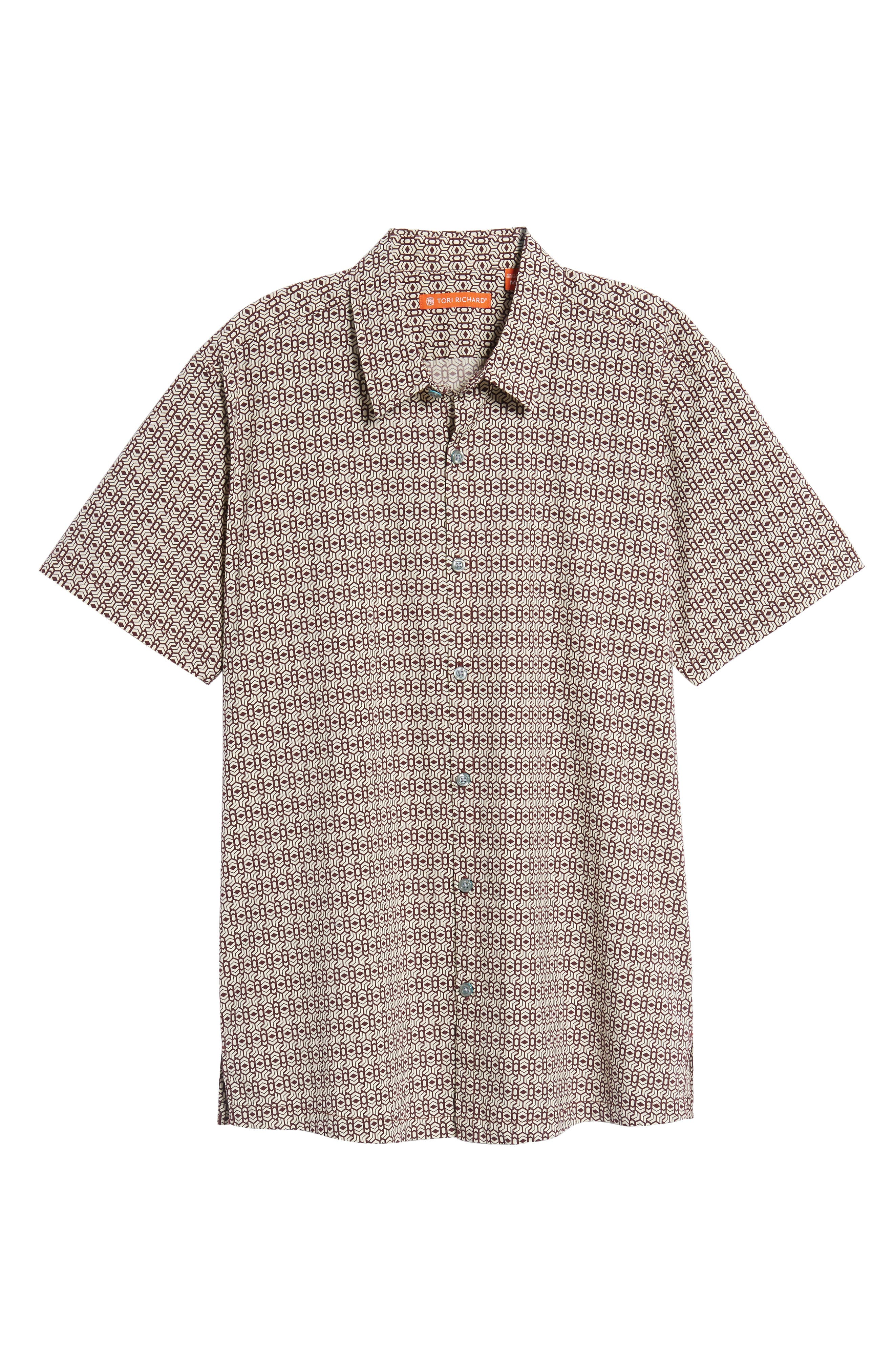 Alternate Image 6  - Tori Richard Chevrons Slim Fit Camp Shirt