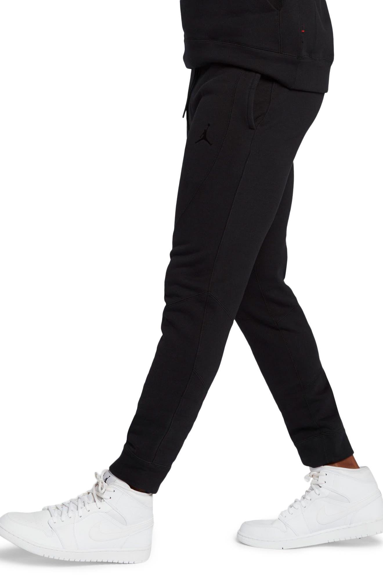 Wings Fleece Pants,                             Alternate thumbnail 3, color,                             Black/ Black