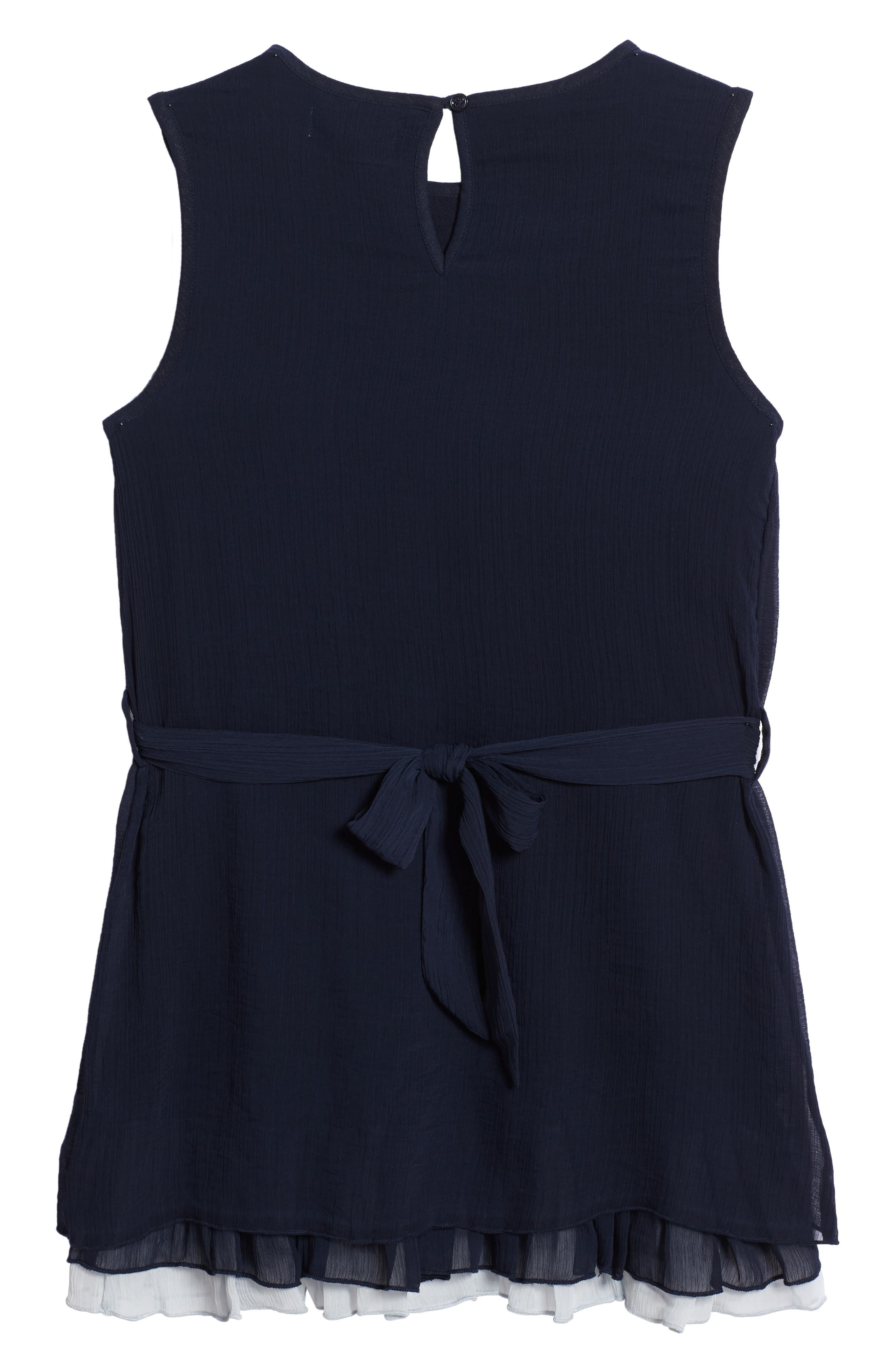Stefanie Pleated Dress,                             Alternate thumbnail 2, color,                             Navy