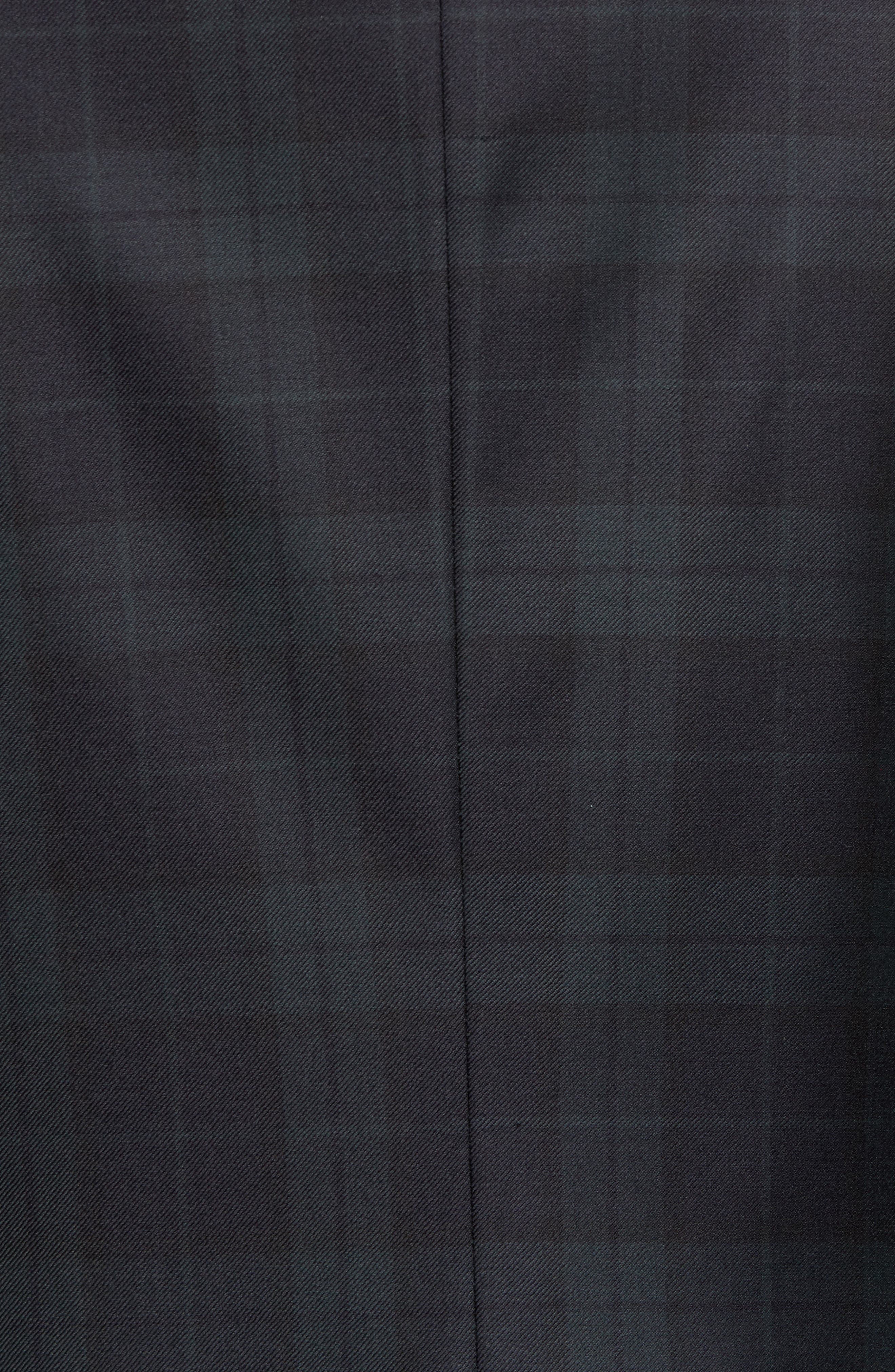 Alternate Image 5  - Hickey Freeman Classic B Fit Plaid Wool Dinner Jacket