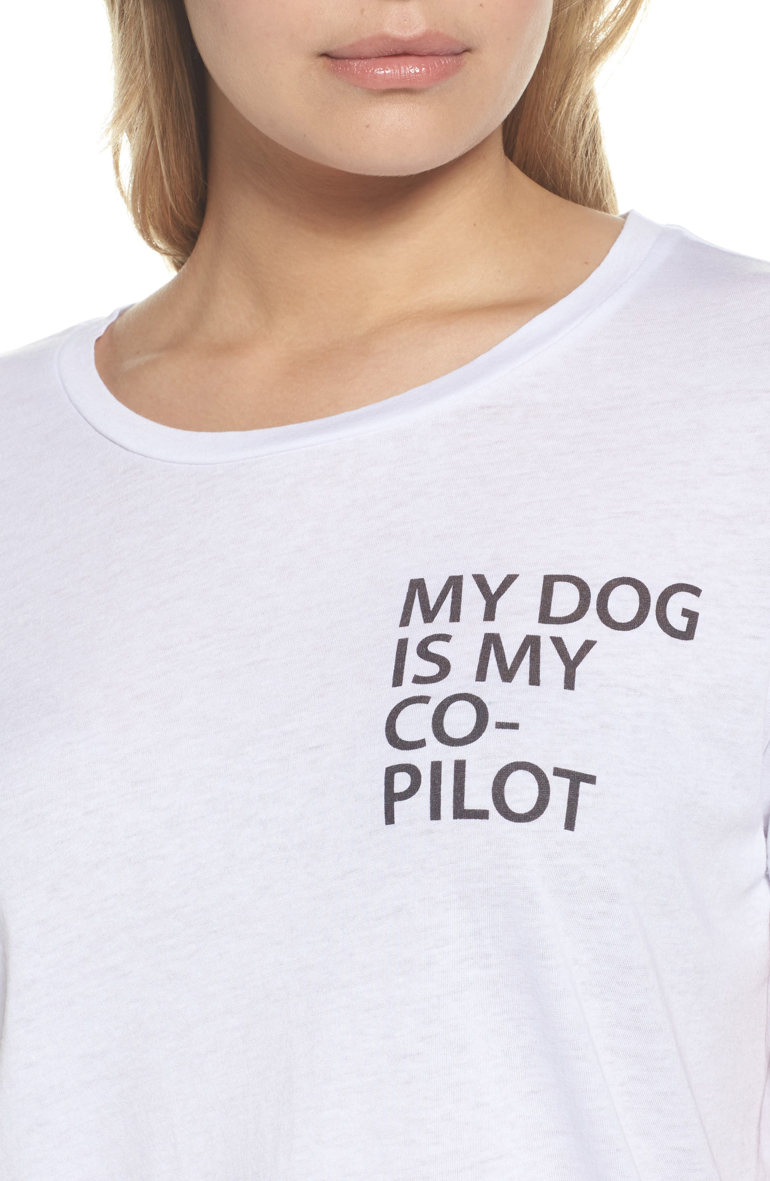 My Dog is My Co-Pilot Tee,                             Alternate thumbnail 5, color,                             White