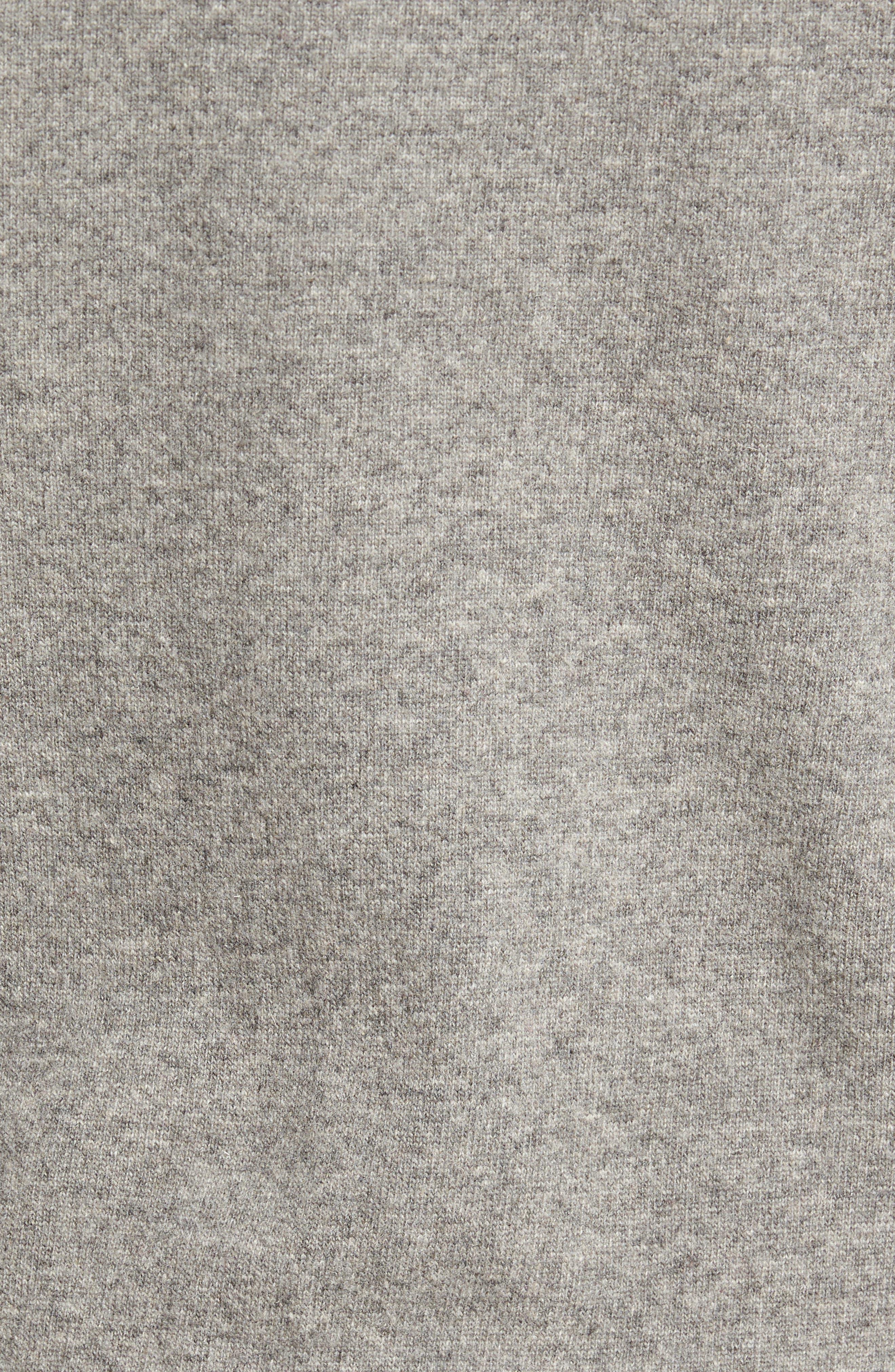 Skier Wool Blend Sweater,                             Alternate thumbnail 5, color,                             Mid Grey/ Crimson