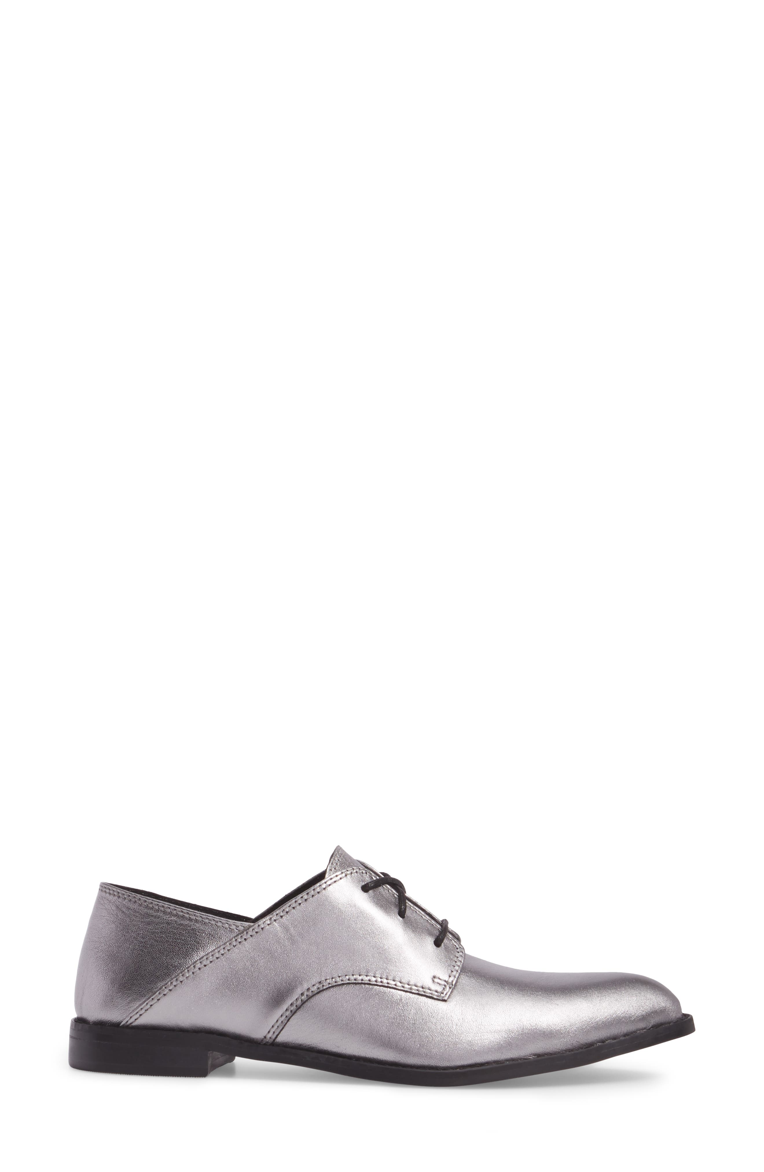 Corbin Oxford,                             Alternate thumbnail 3, color,                             Pewter Leather